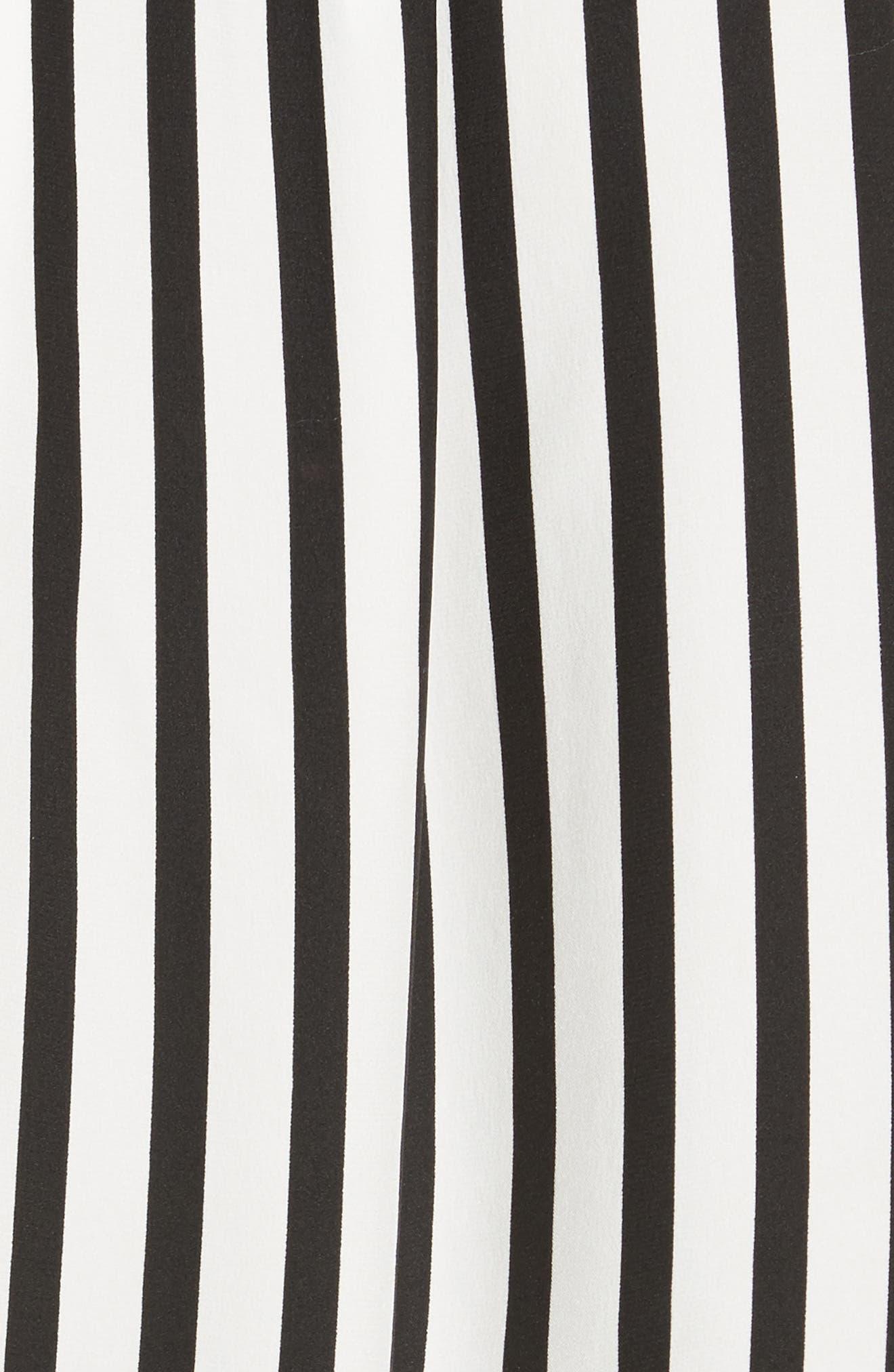 Stripe Silk Shirt,                             Alternate thumbnail 5, color,                             Noir Multi