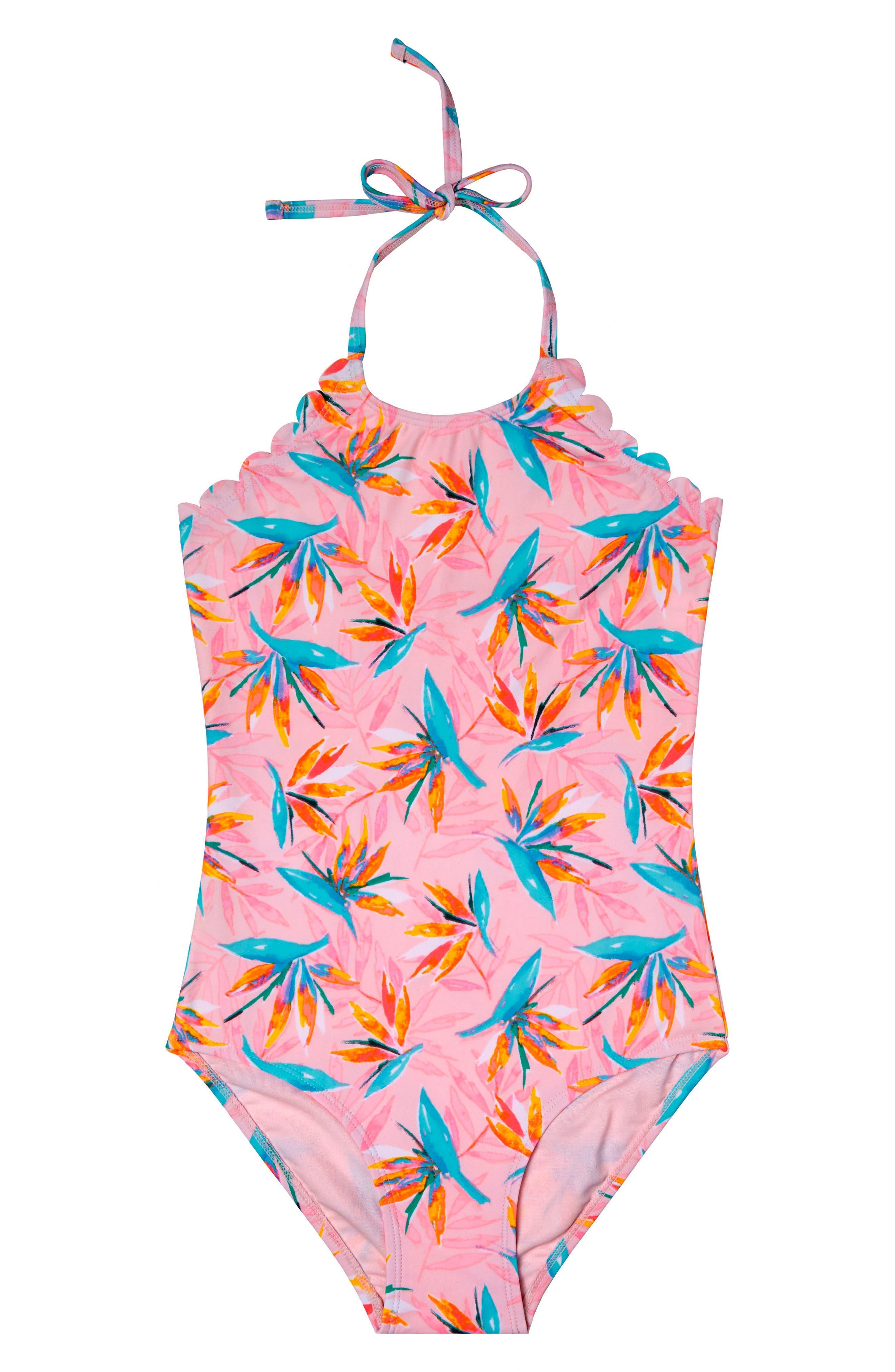 Paradise Haven One-Piece Swimsuit,                         Main,                         color, Pink