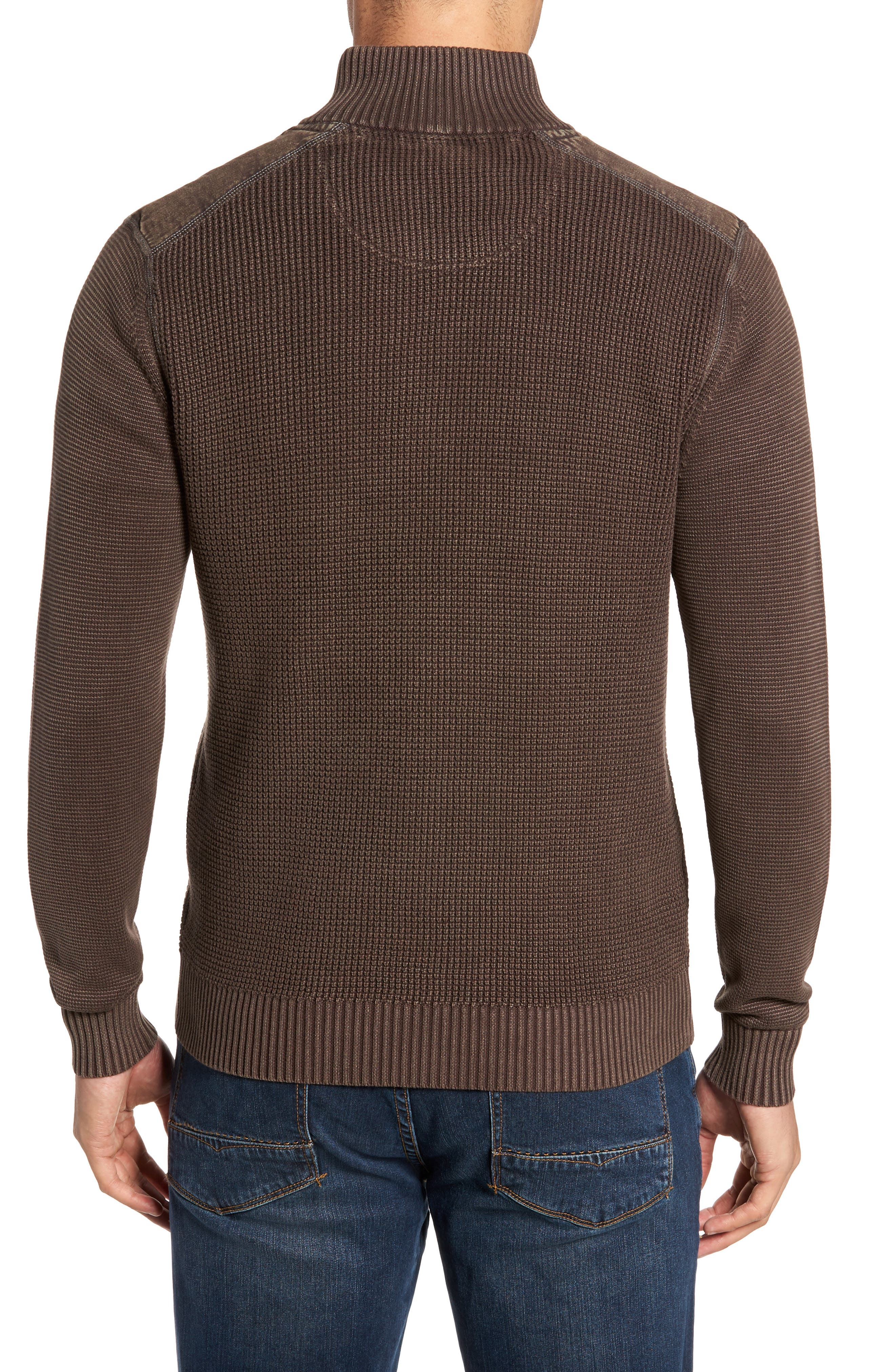 'Coastal Shores' Quarter Zip Sweater,                             Alternate thumbnail 2, color,                             Tilth