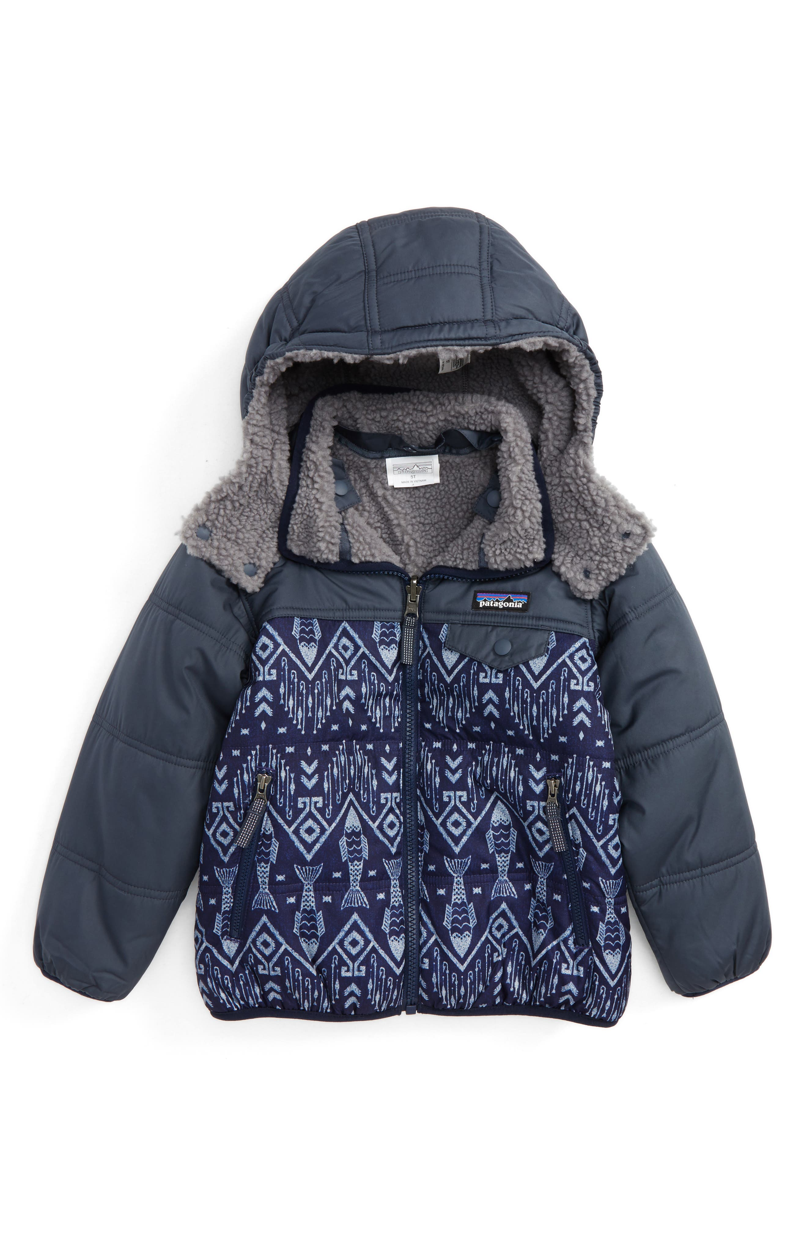 Alternate Image 1 Selected - Patagonia 'Tribbles' Reversible Water Resistant Snow Jacket(Toddler Boys & Little Boys)