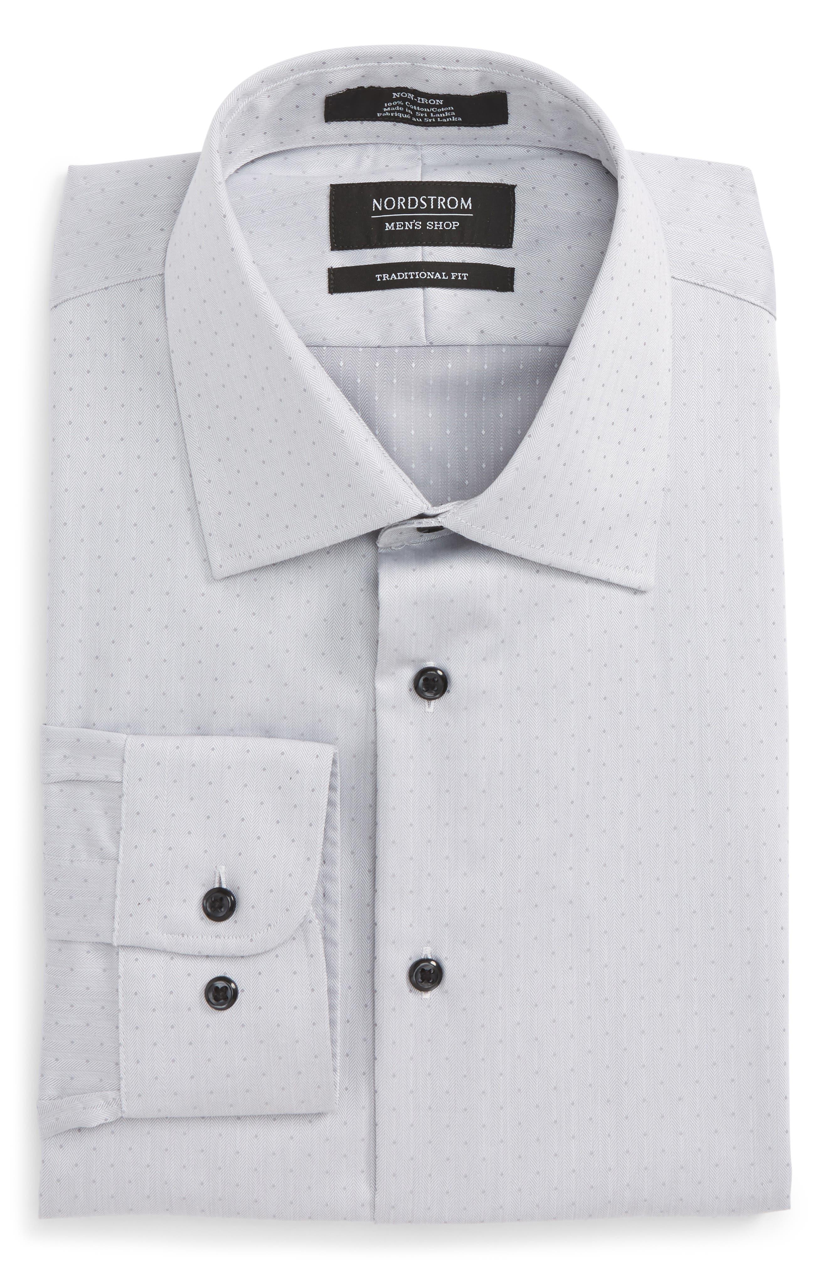 Alternate Image 6  - Nordstrom Men's Shop Traditional Fit Non-Iron Dress Shirt