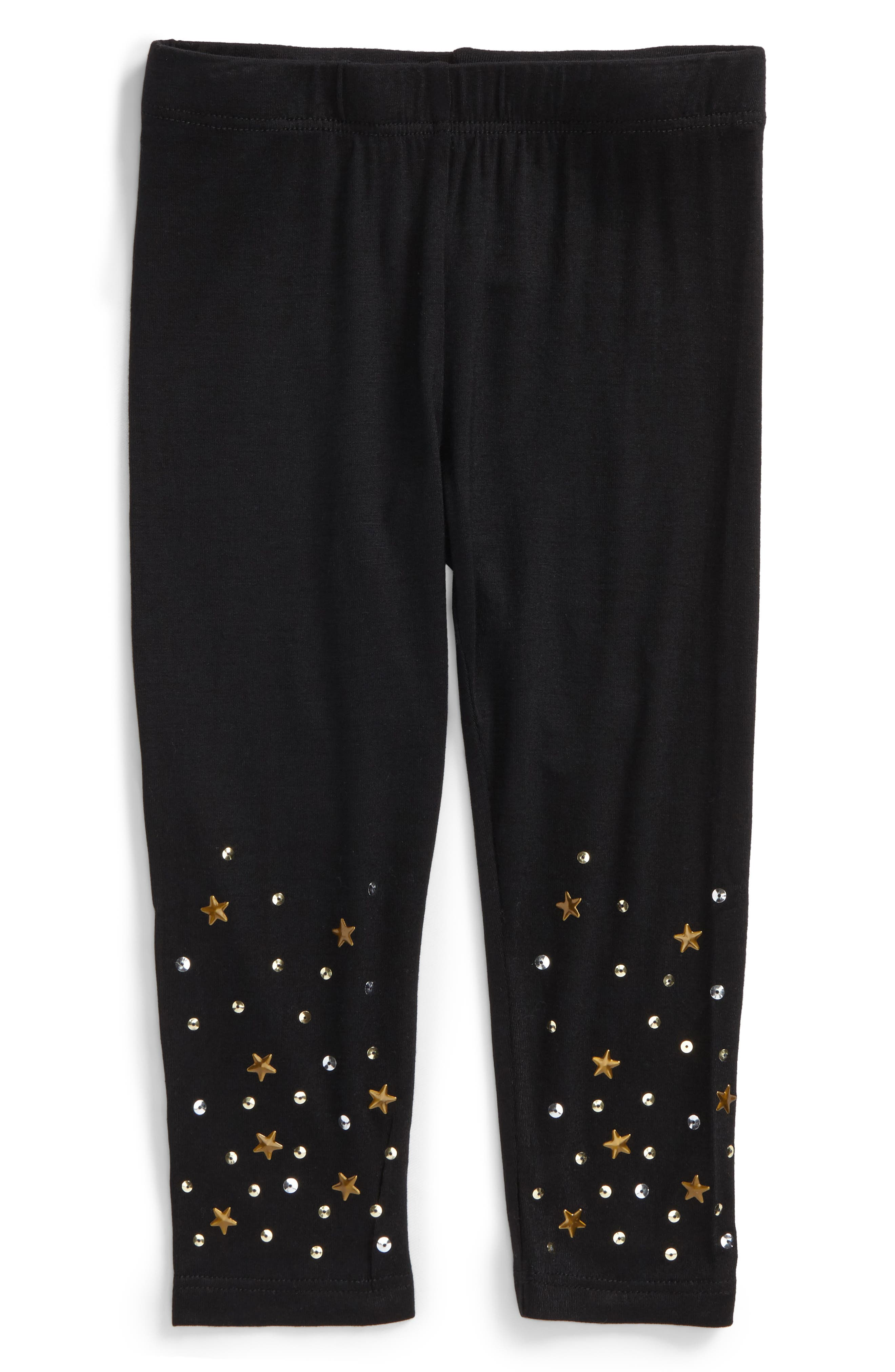 Alternate Image 1 Selected - Truly Me Star & Sequin Leggings (Baby Girls)