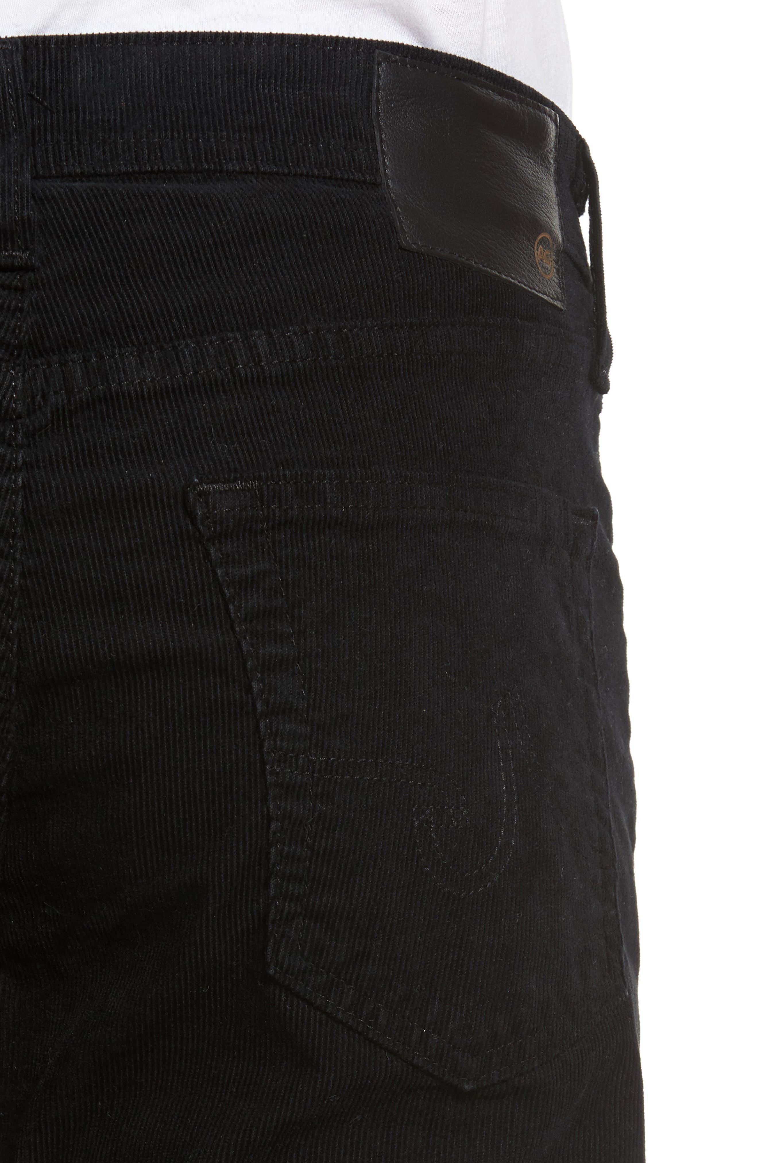 Dylan Skinny Fit Corduroy Pants,                             Alternate thumbnail 4, color,                             Sulfur True Black