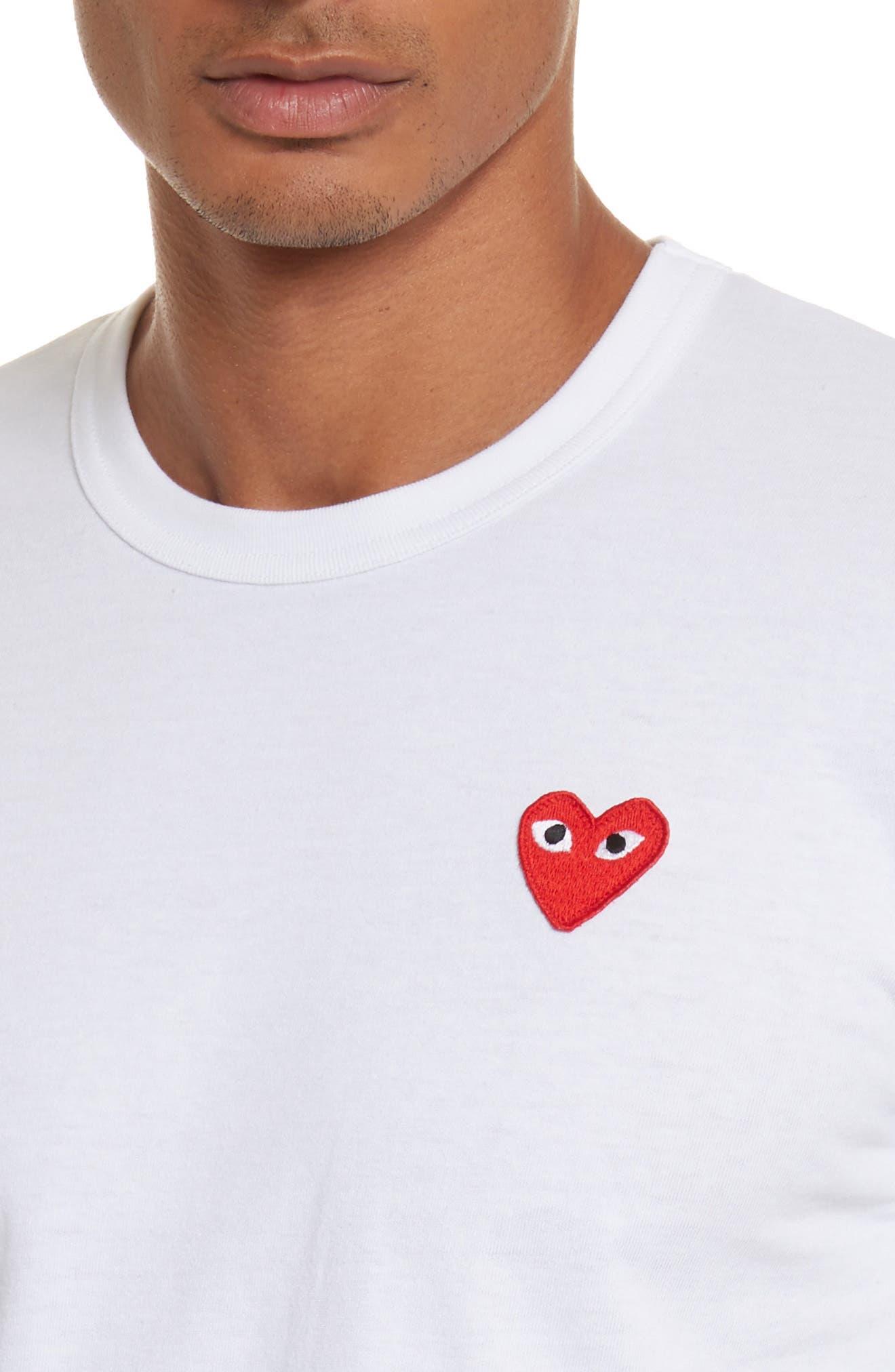 Alternate Image 4  - Comme des Garçons PLAY Cotton Jersey Crewneck T-Shirt