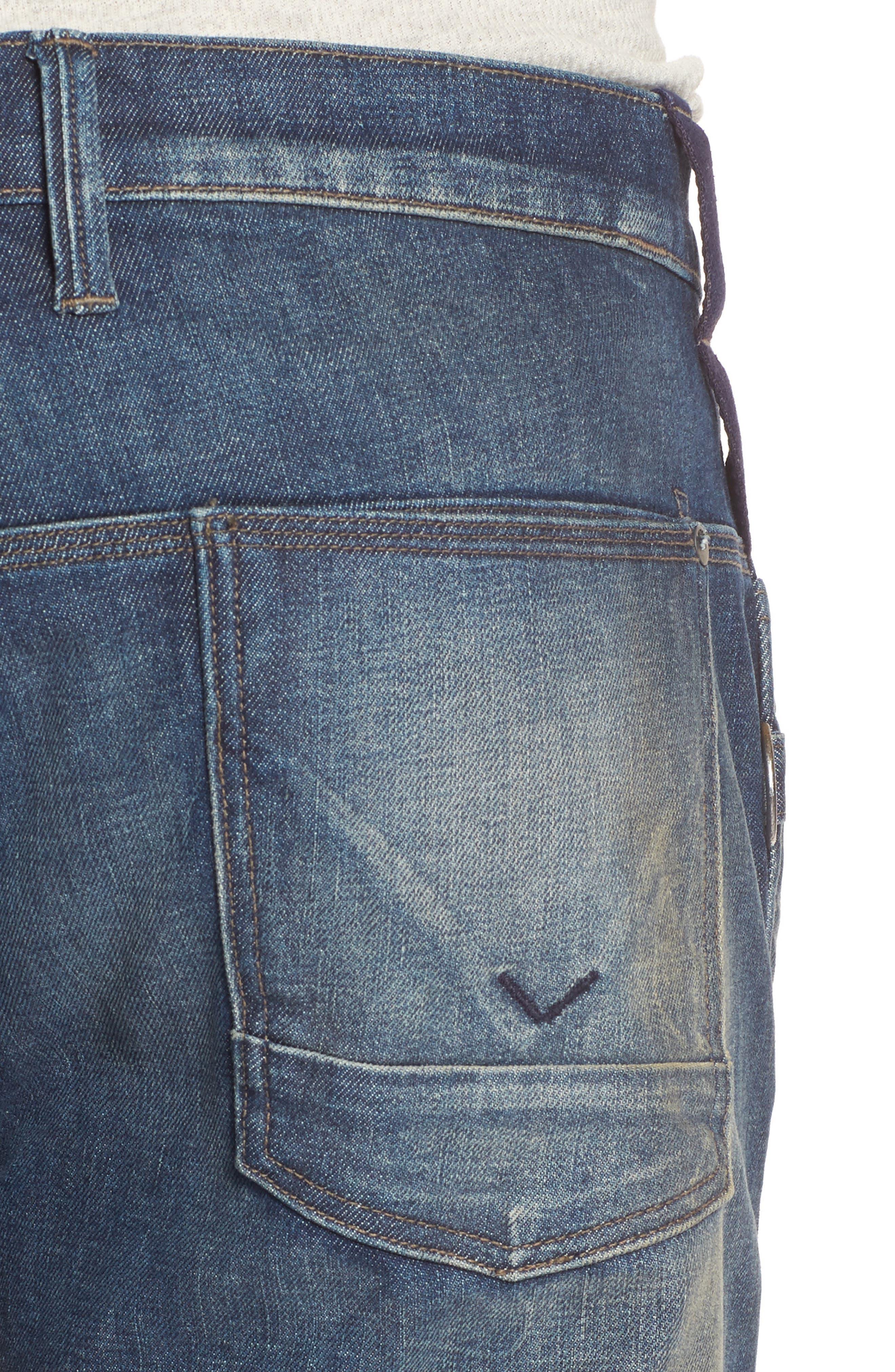 Hunter Straight Fit Jeans,                             Alternate thumbnail 4, color,                             Virus