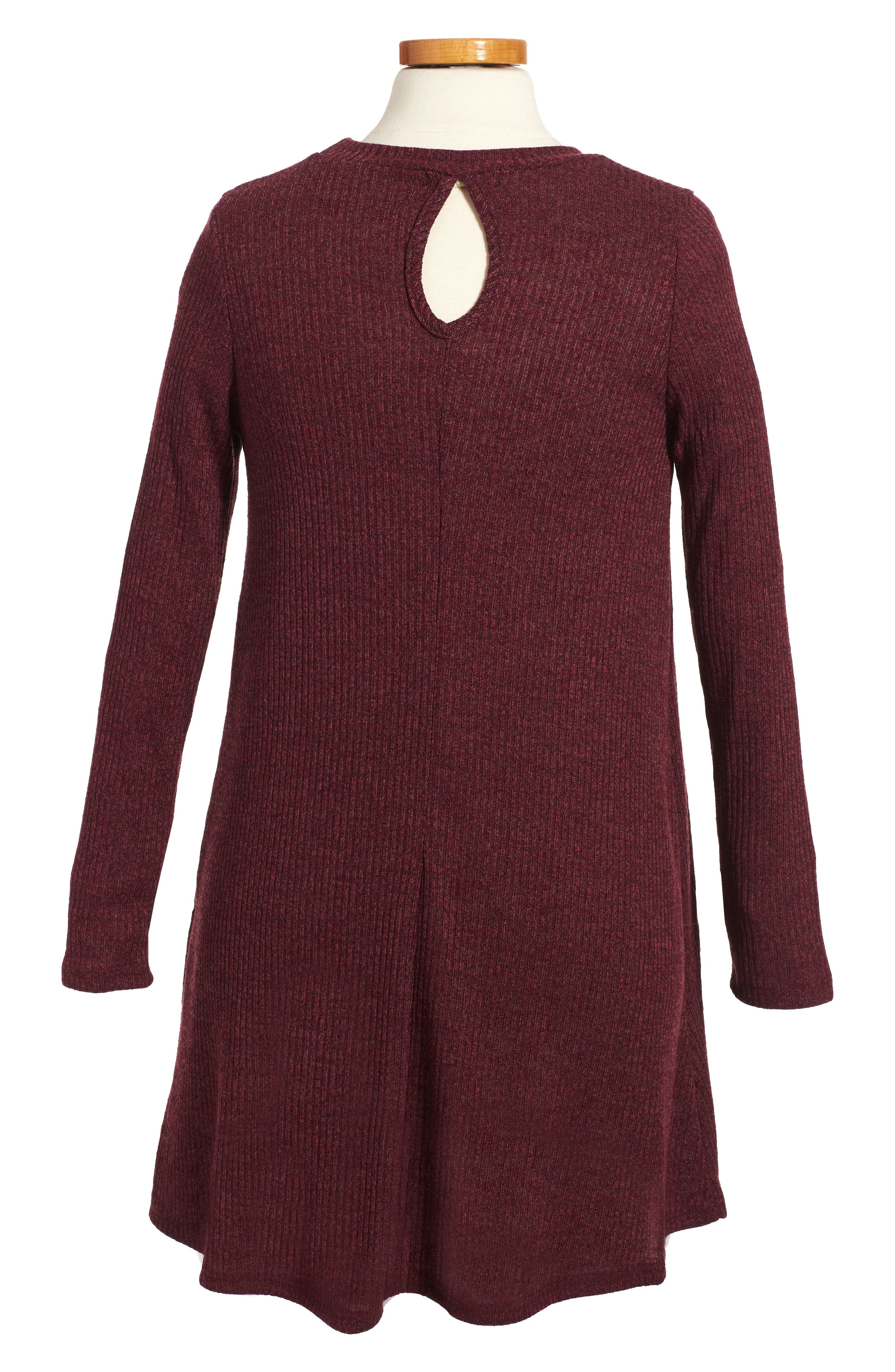 Alternate Image 2  - Soprano Rib Knit Sweater Dress (Big Girls)