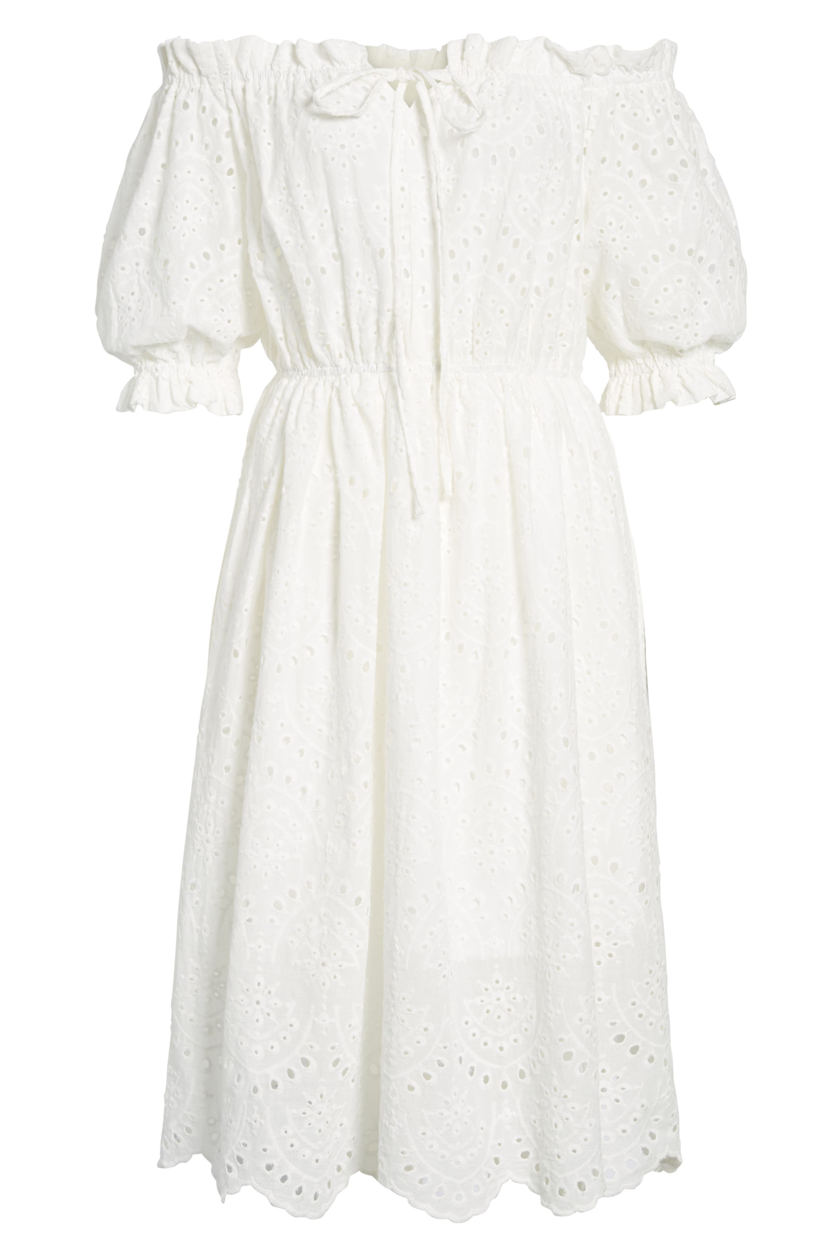The White Party Off the Shoulder Dress,                             Alternate thumbnail 8, color,                             White
