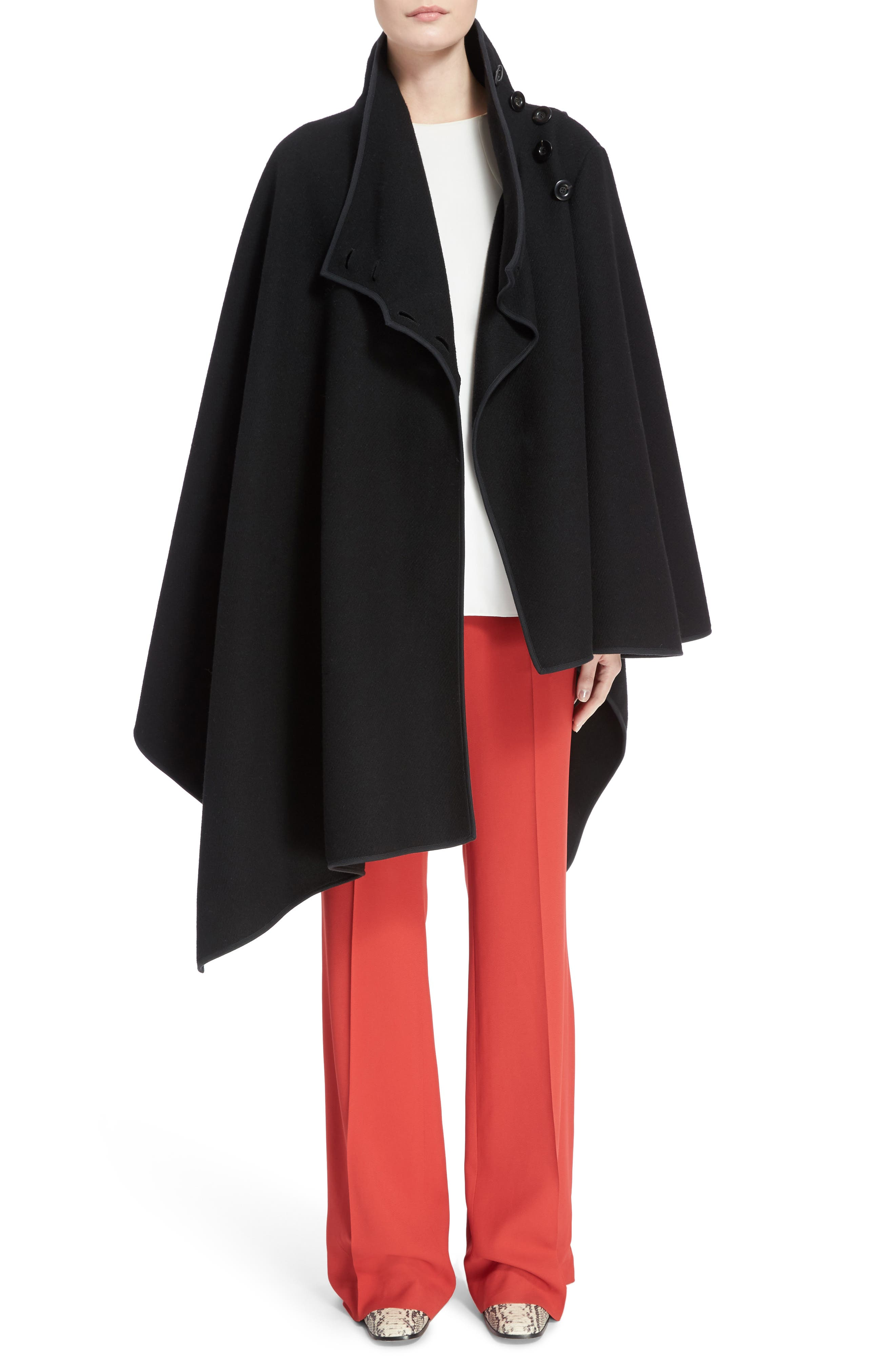 Cady Flare Suiting Pants,                             Alternate thumbnail 8, color,                             Ginger Red