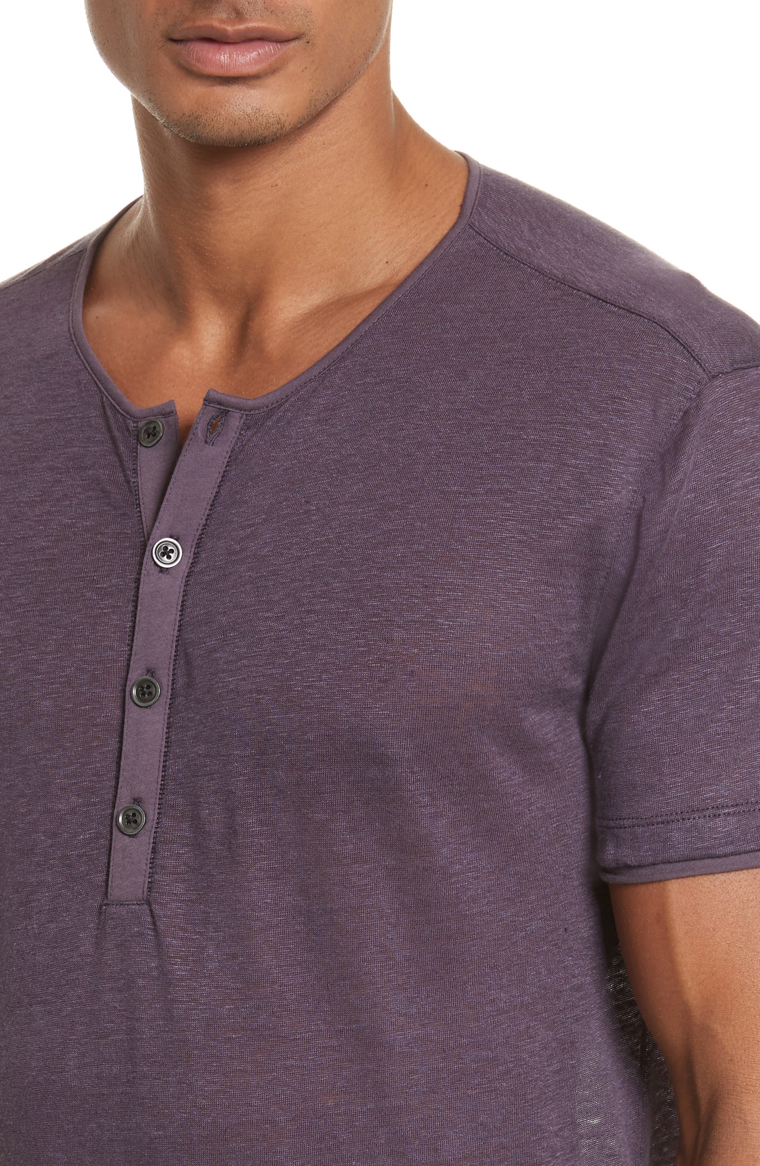 Alternate Image 4  - John Varvatos Collection Linen Henley T-Shirt