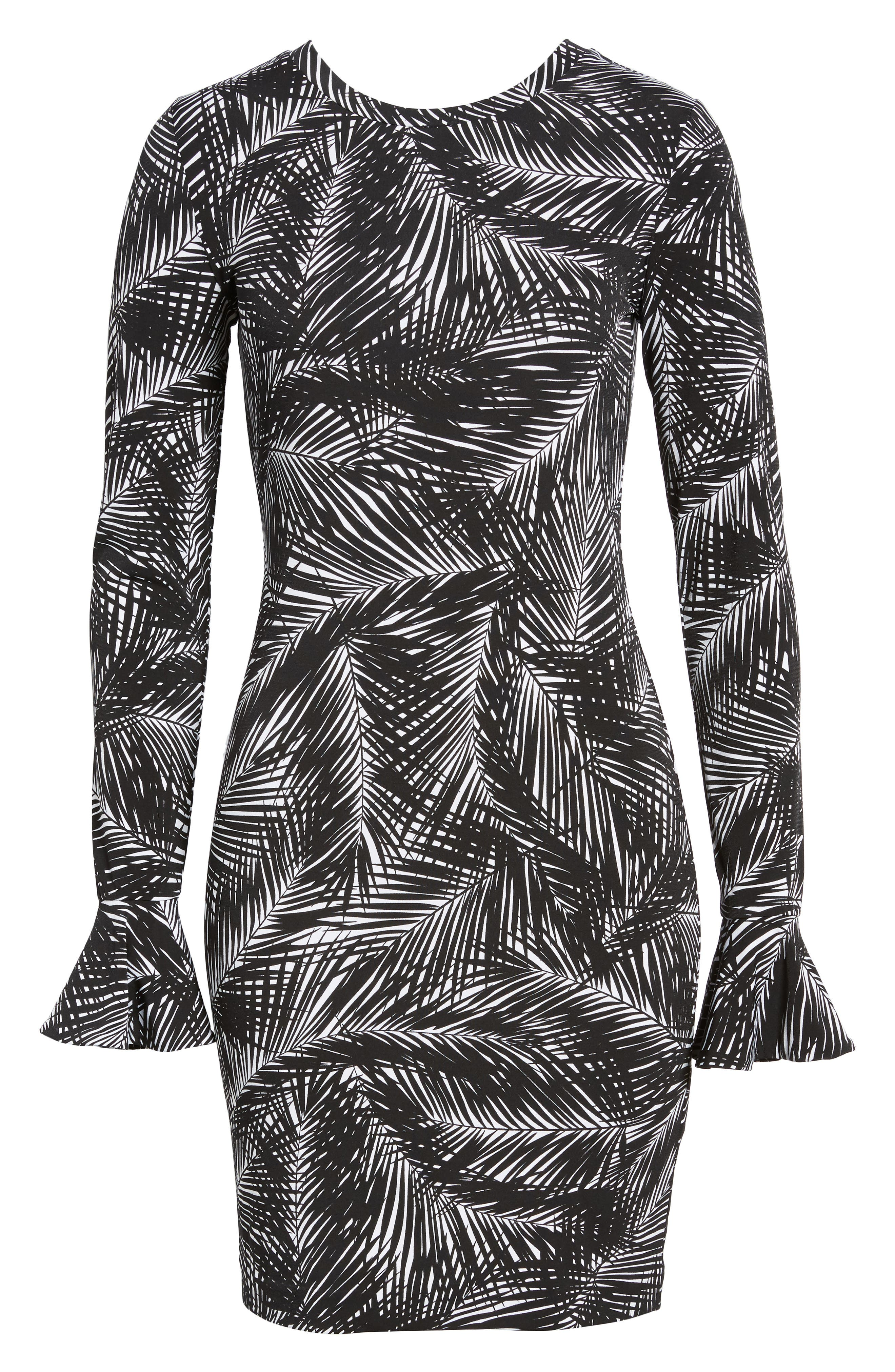 Alternate Image 6  - MICHAEL Michael Kors Palm Print Bell Sleeve Dress