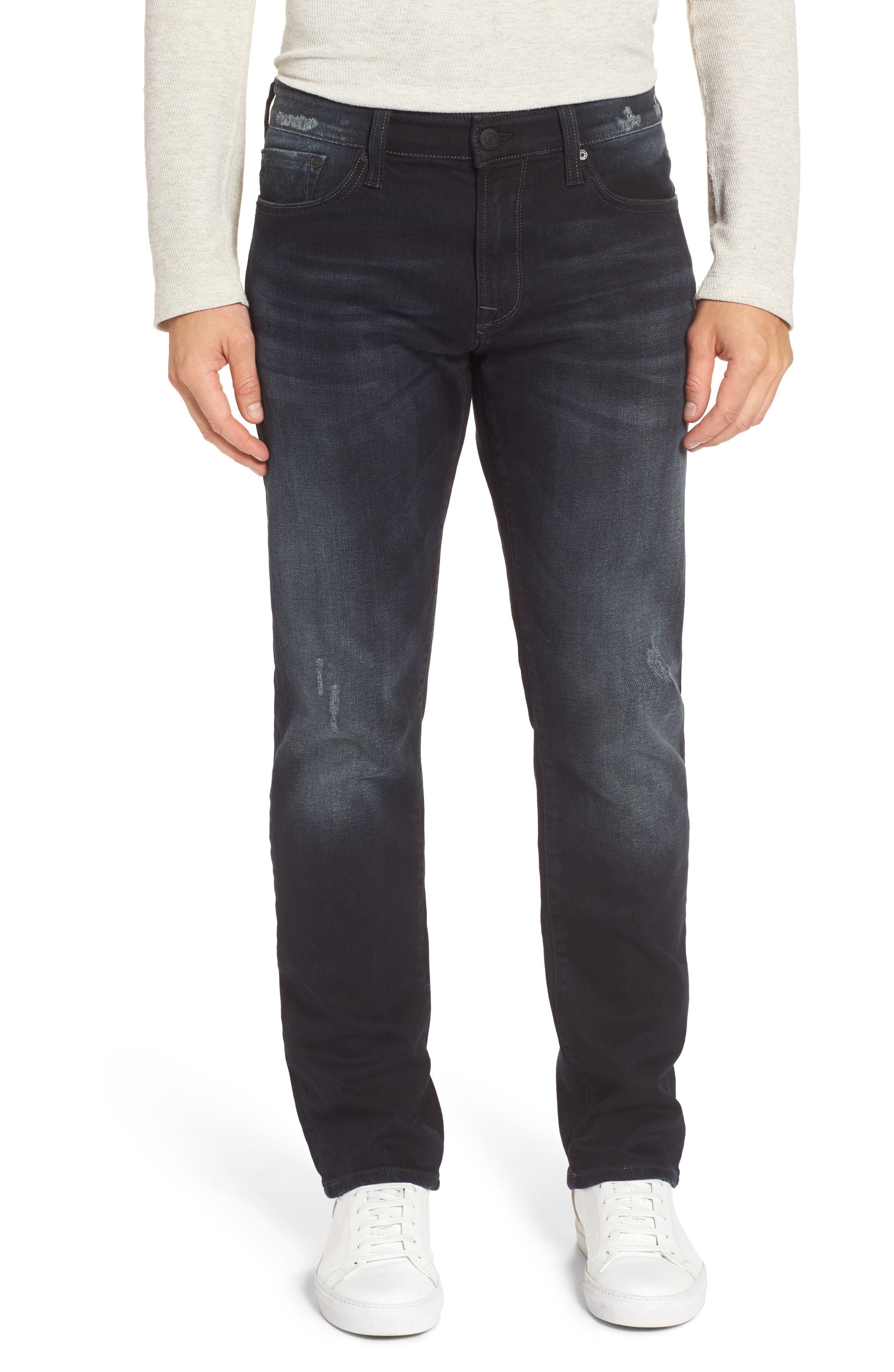 Mavi Jeans Zach Straight Leg Jeans (Blue-Black Authentic Vintage)