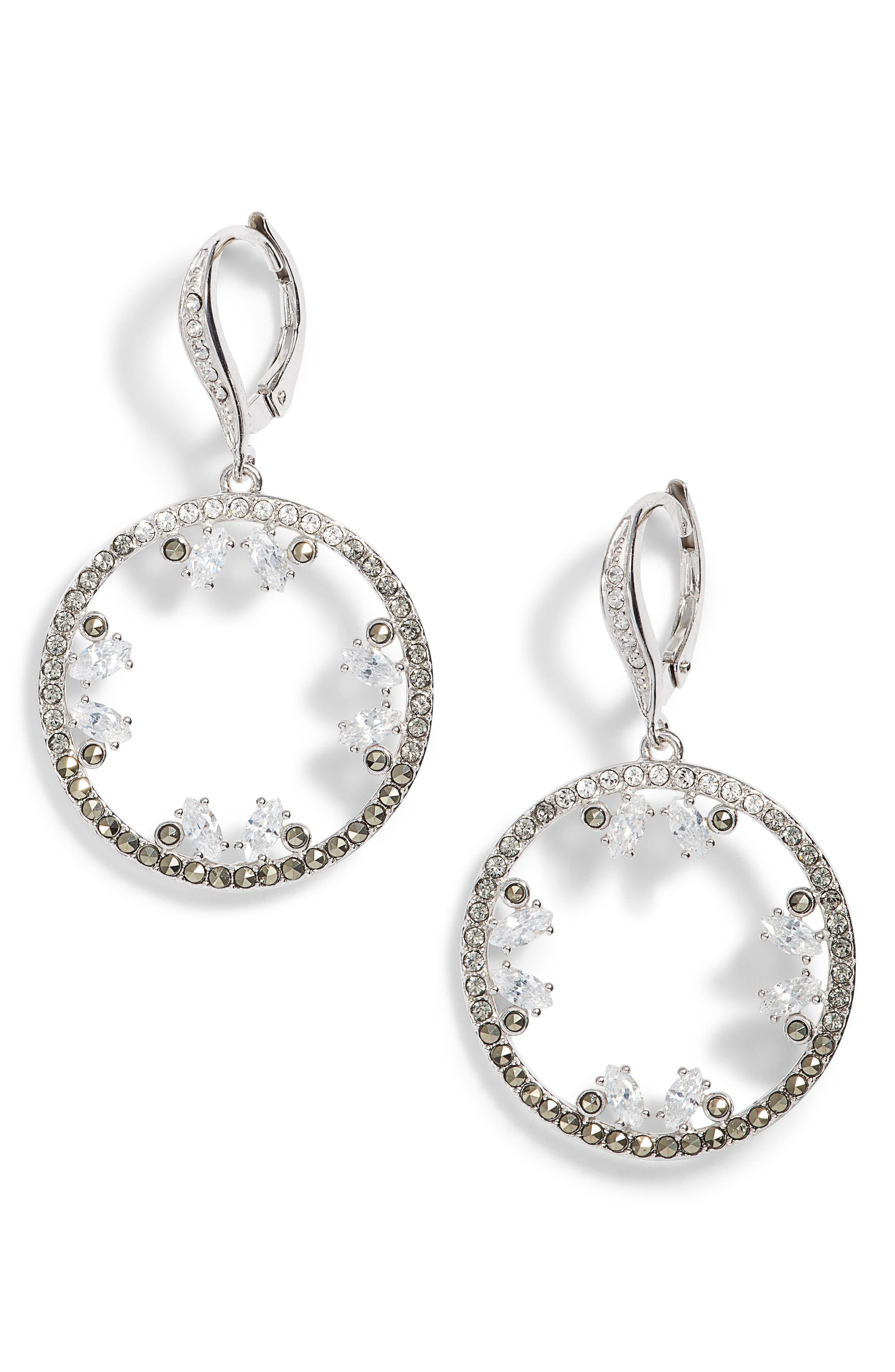 Judith Jack Doublet Cubic Zirconia Drop Earrings