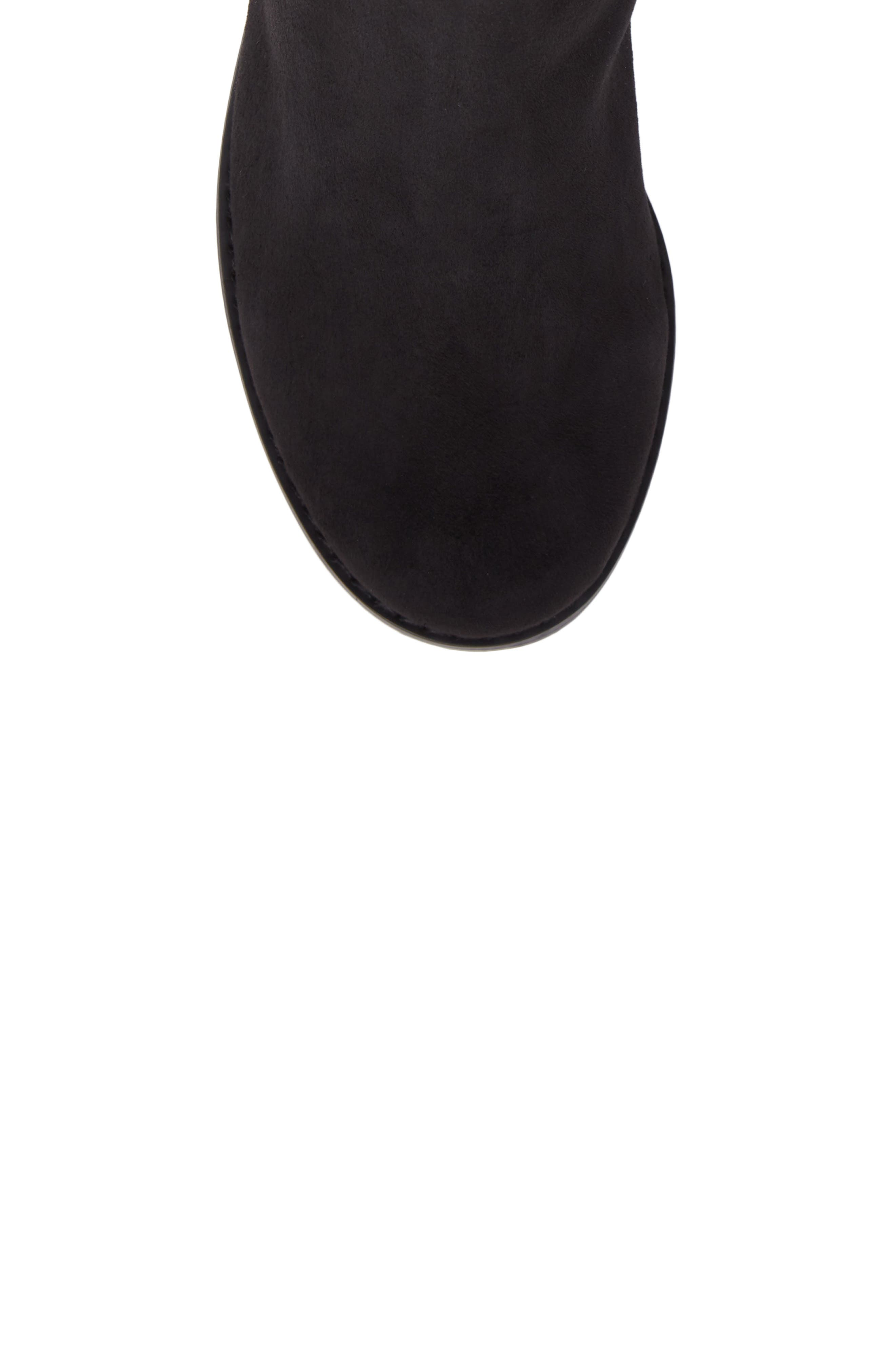 Panache Tall Boot,                             Alternate thumbnail 5, color,                             Black Suede