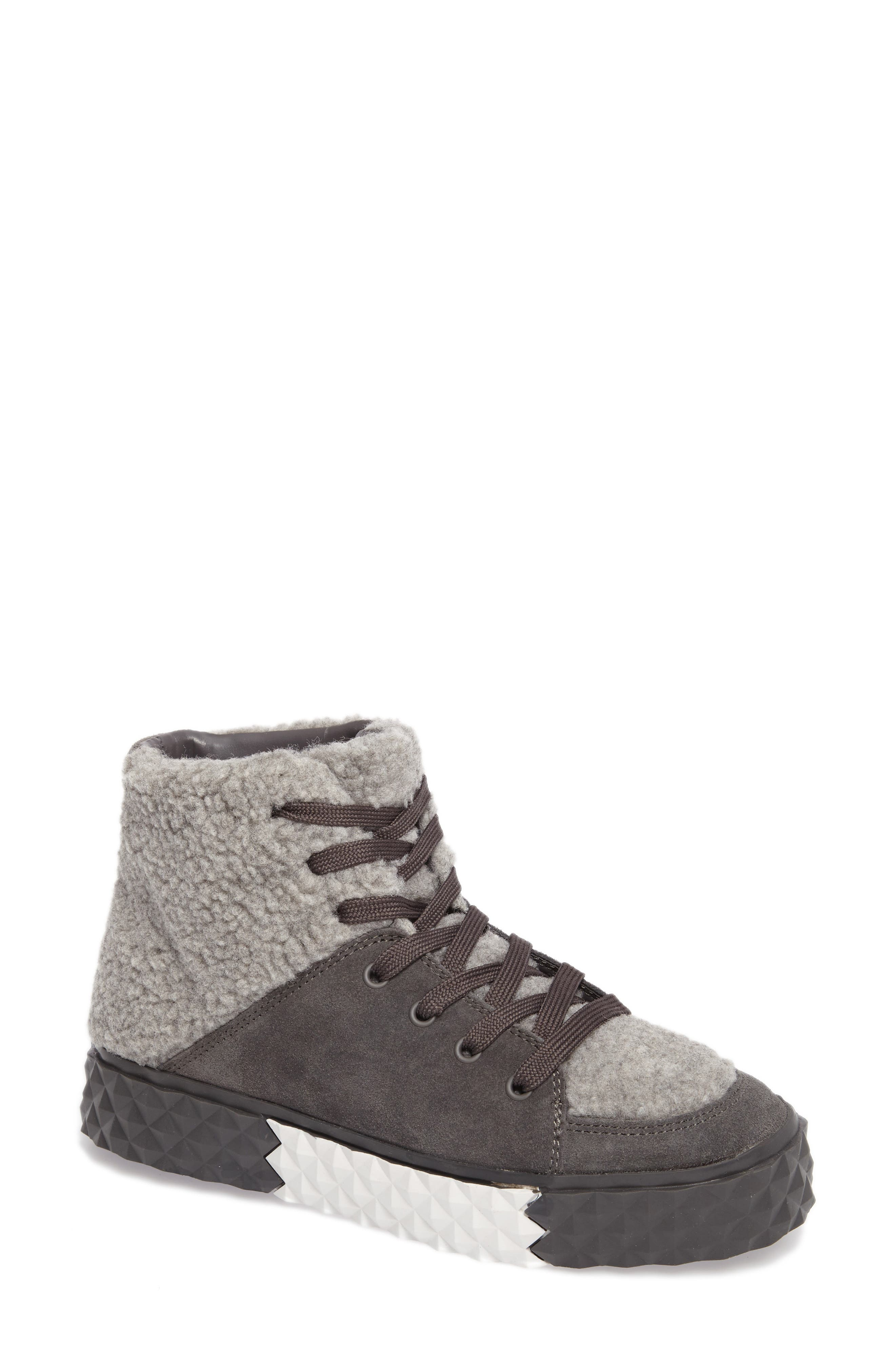KENDALL + KYLIE Rebel Faux Shearling Sneaker (Women)