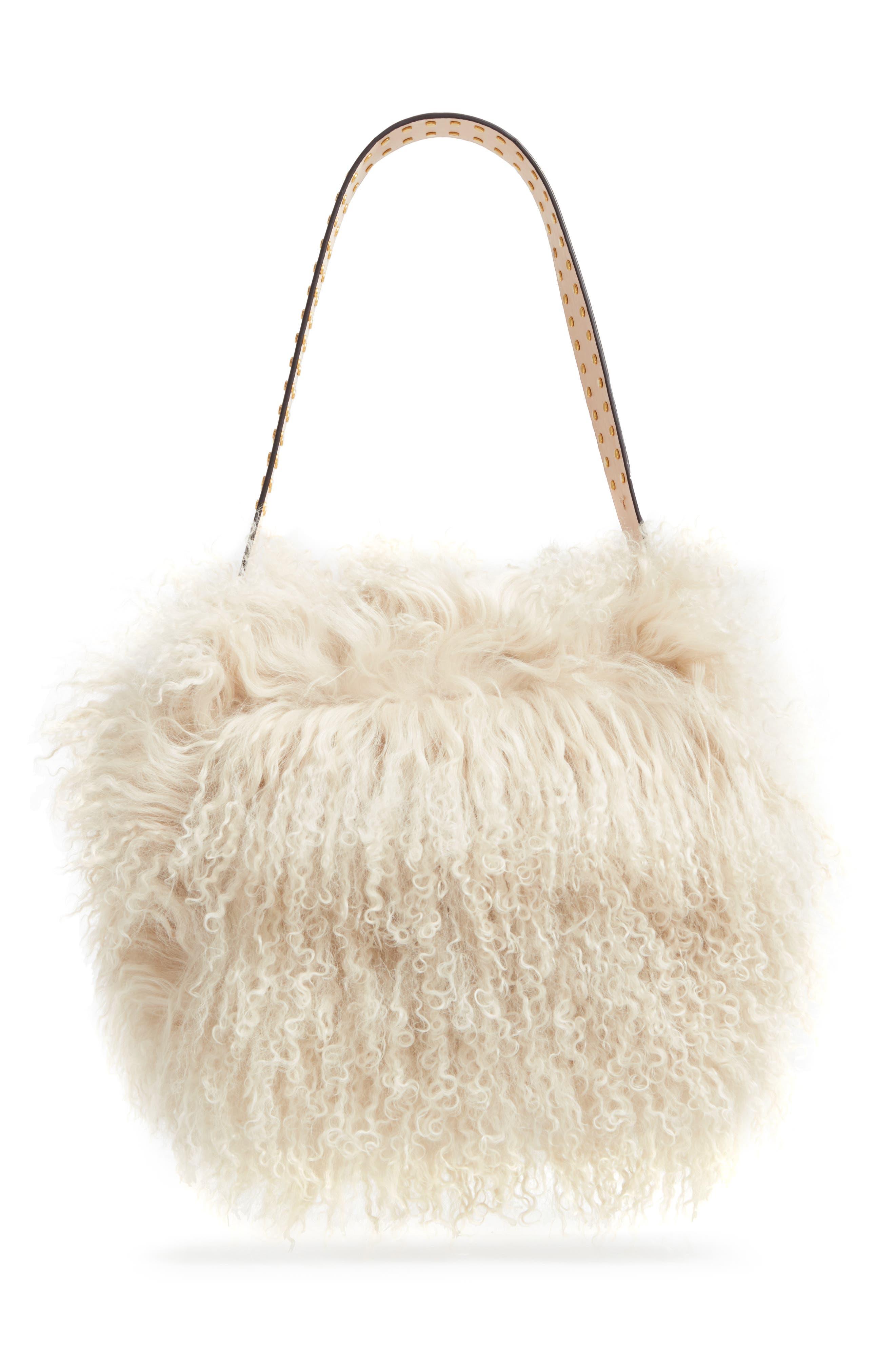 Alternate Image 2  - Tory Burch Sawyer Genuine Shearling Shoulder Bag