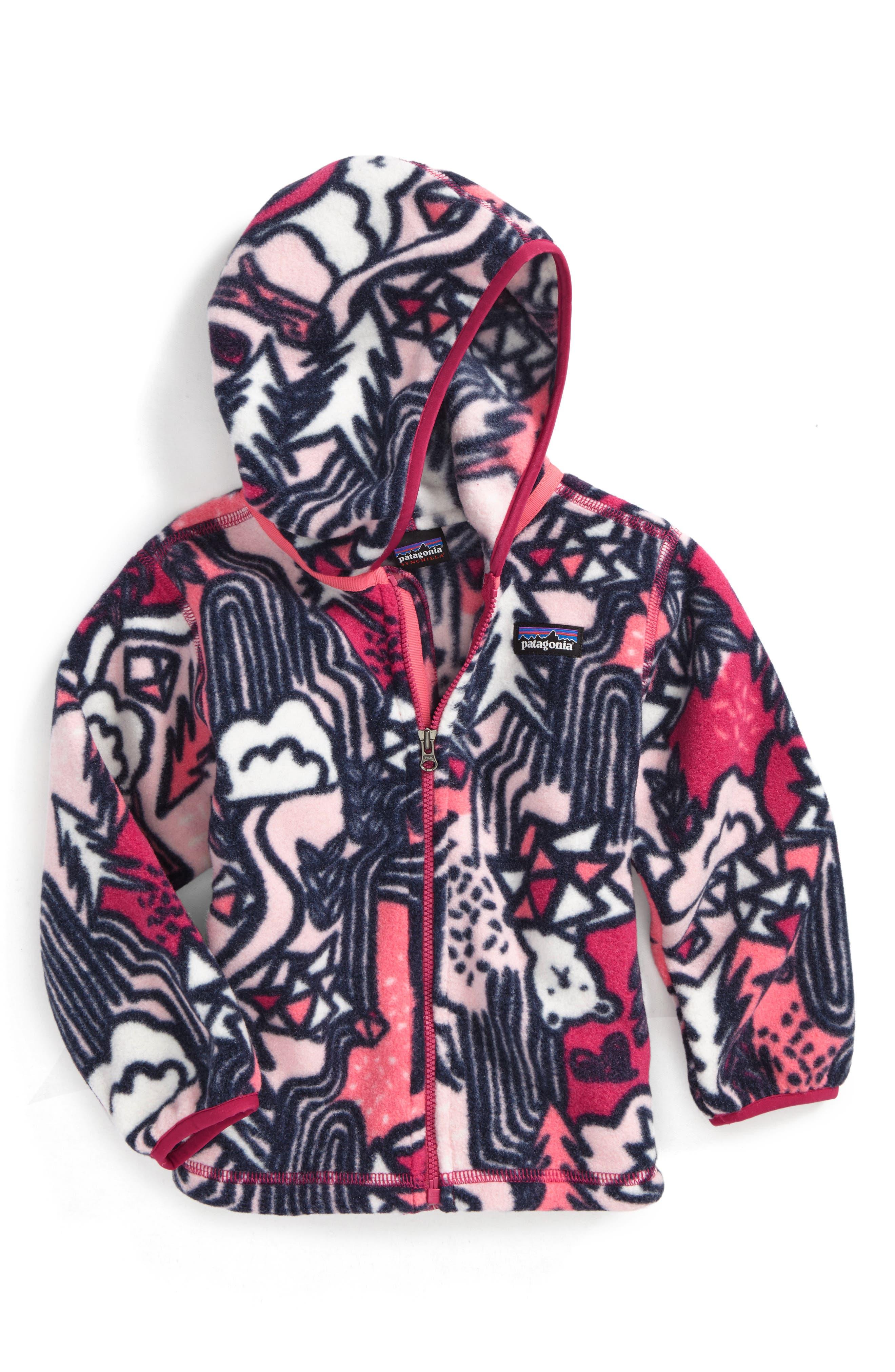 Alternate Image 1 Selected - Patagonia Synchilla® Fleece Cardigan (Toddler Girls)