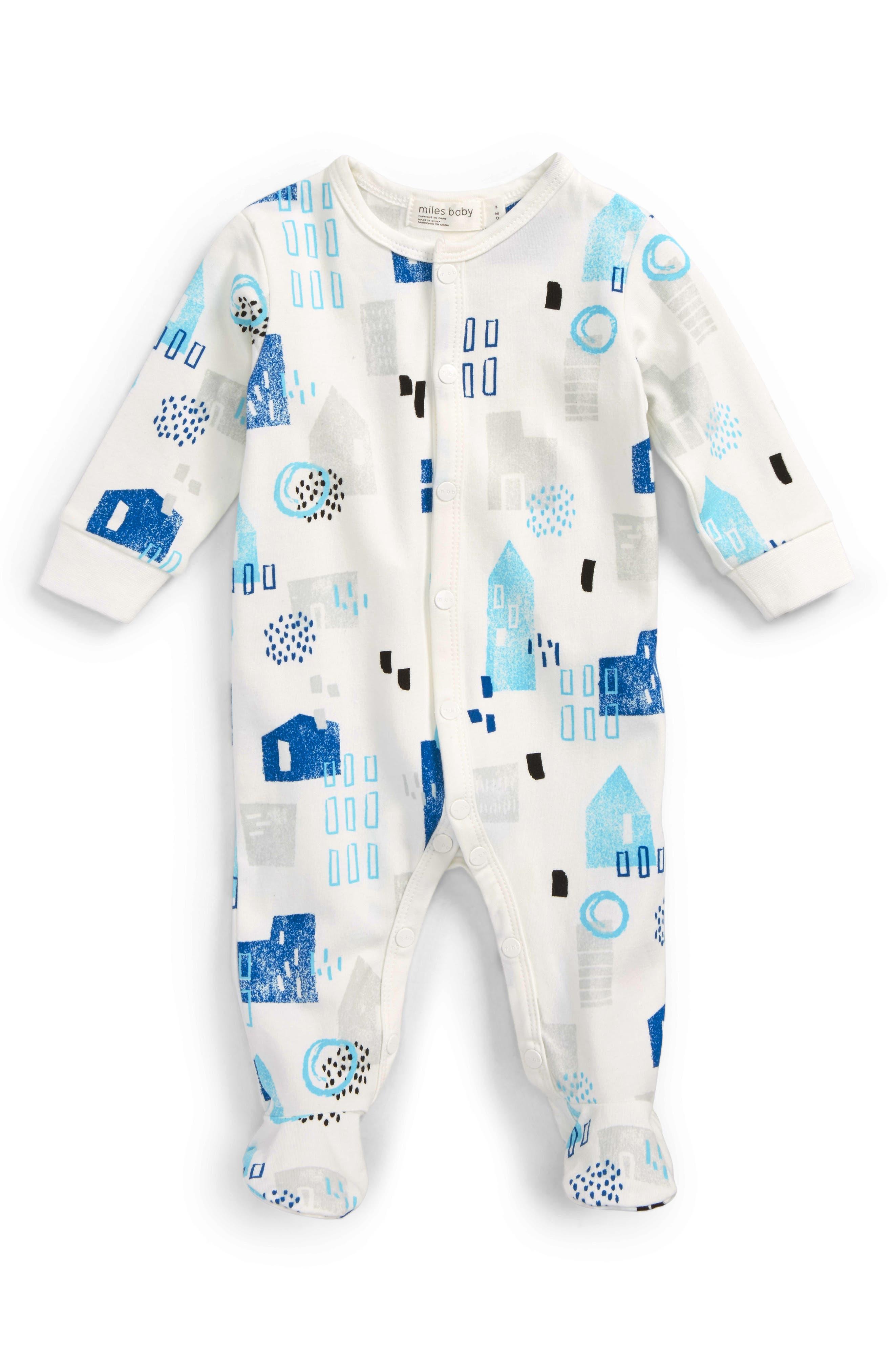 Miles Baby Print Footie (Baby Boys)