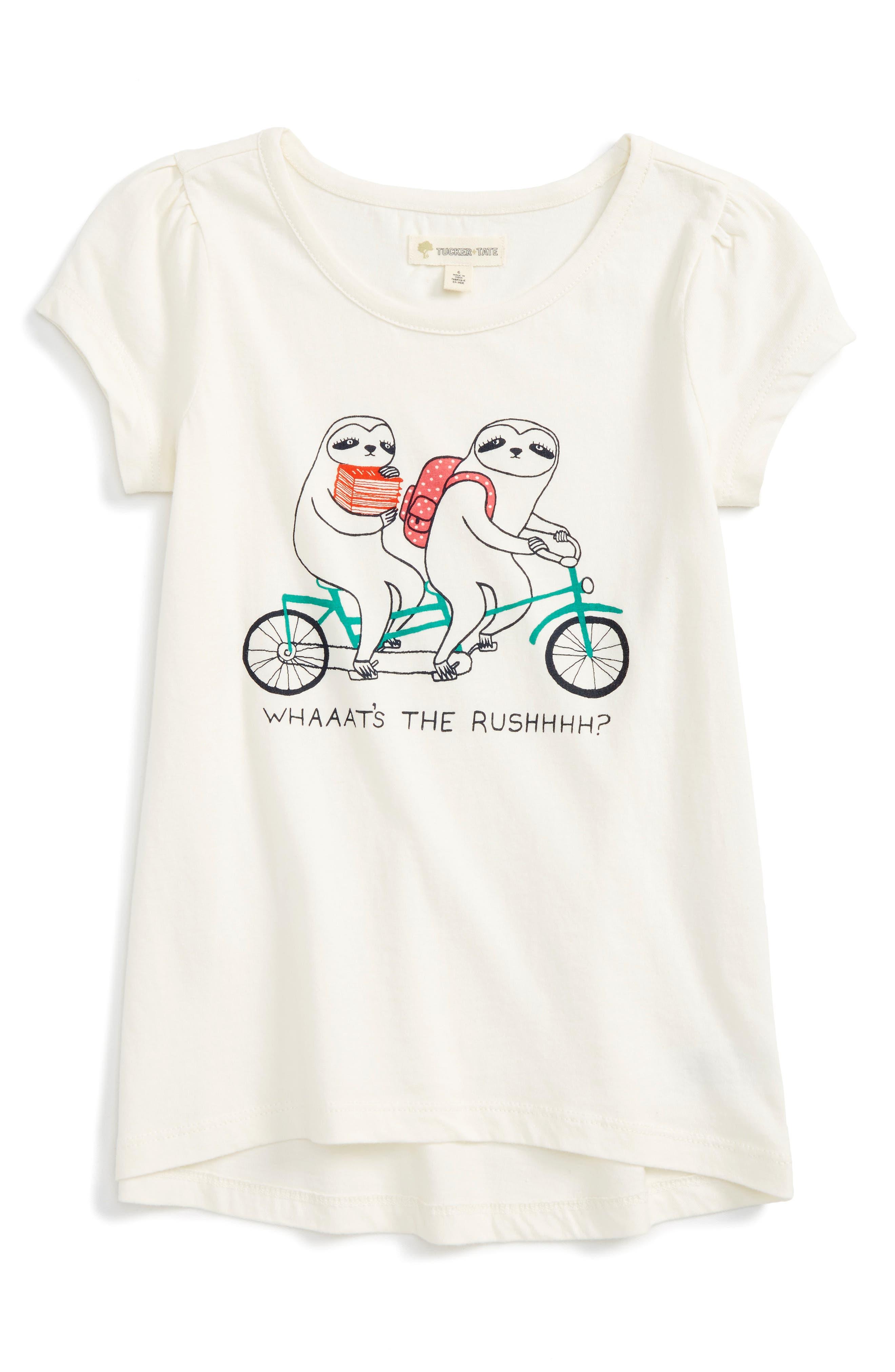 Main Image - Tucker + Tate High/Low Graphic Tee (Toddler Girls, Little Girls & Big Girls)
