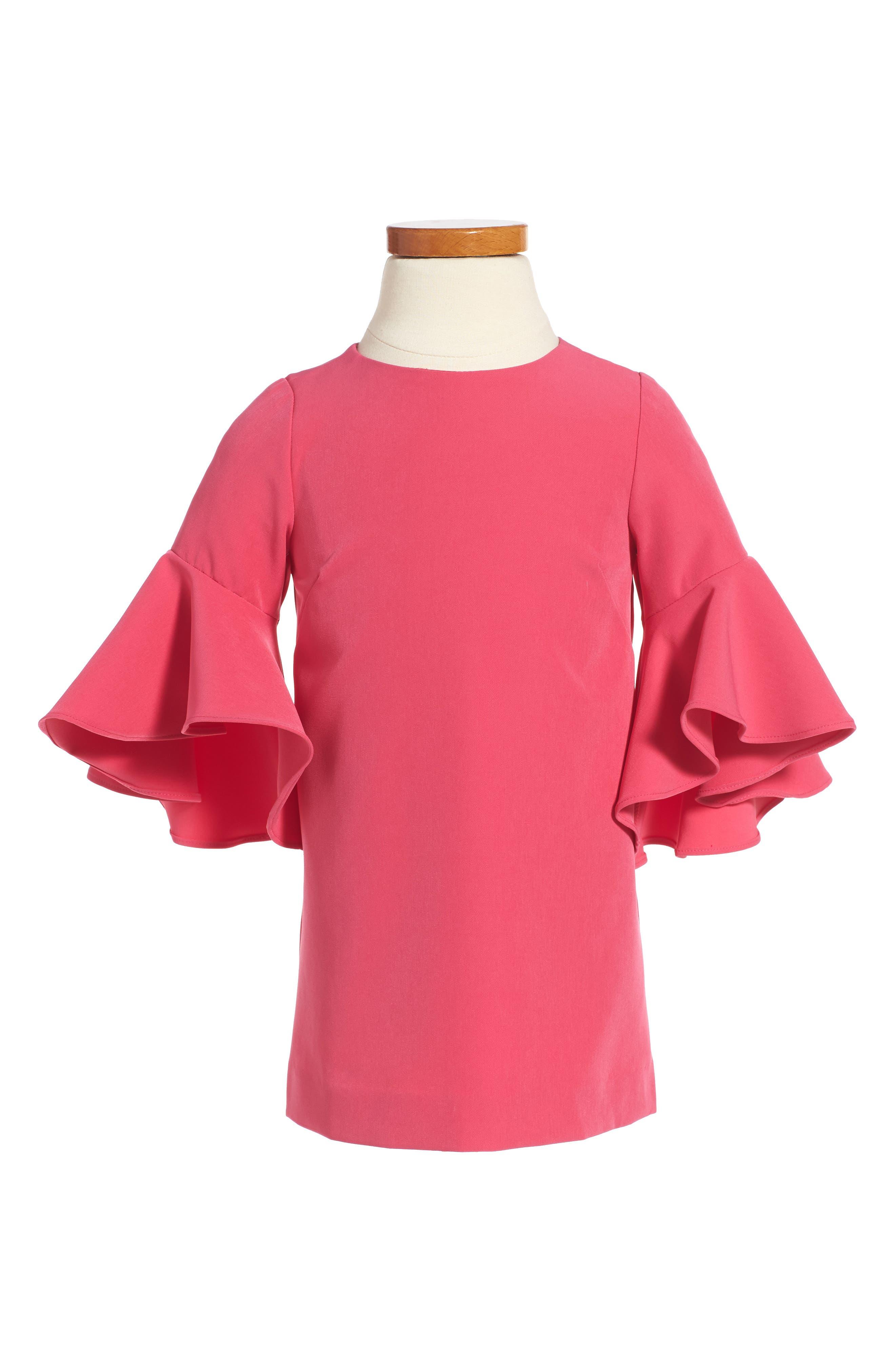 Italian Cady Nicola Dress,                         Main,                         color, Pink