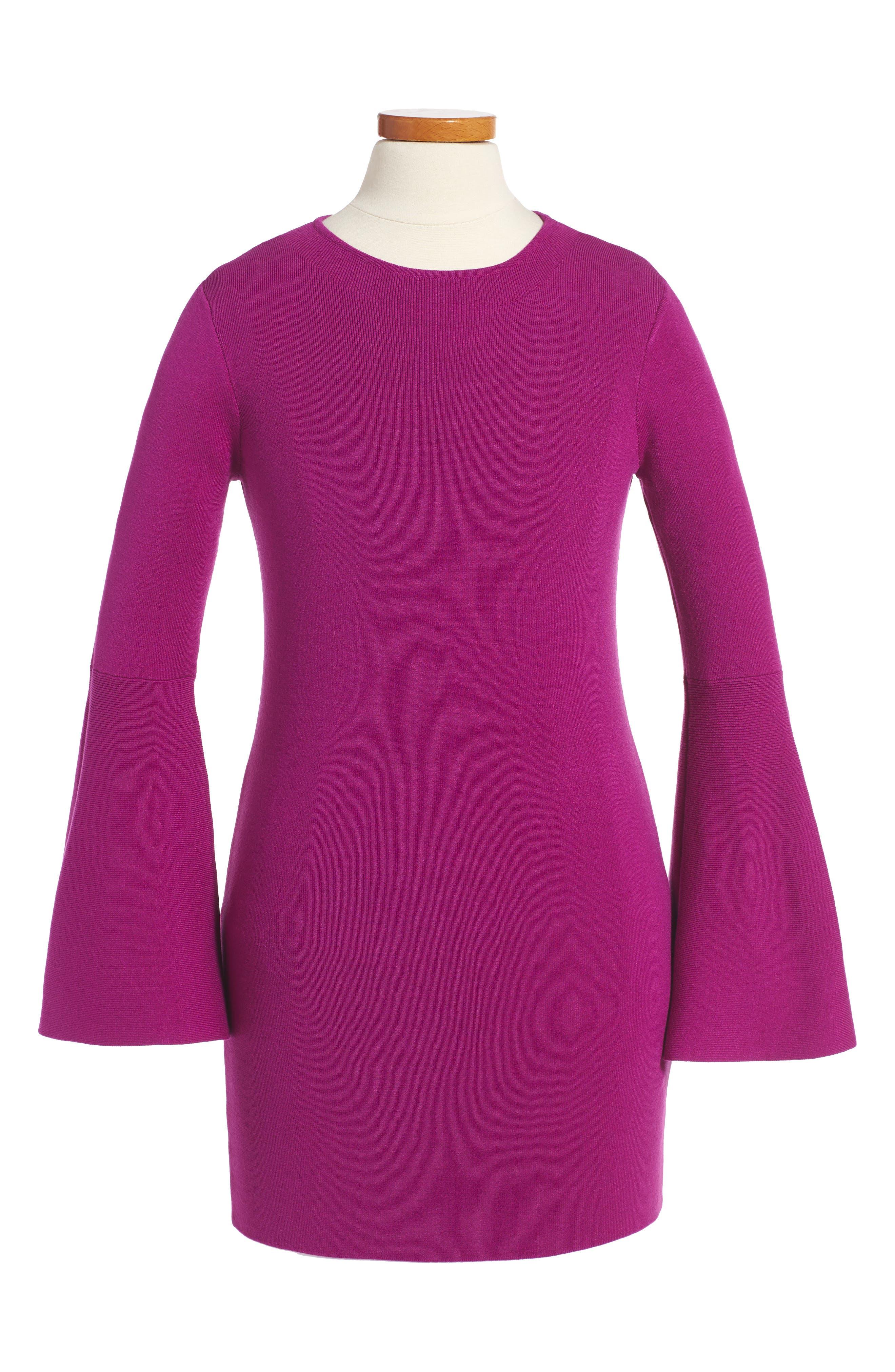 Milly Minis Bell Sleeve Dress (Toddler Girls, Little Girls & Big Girls)