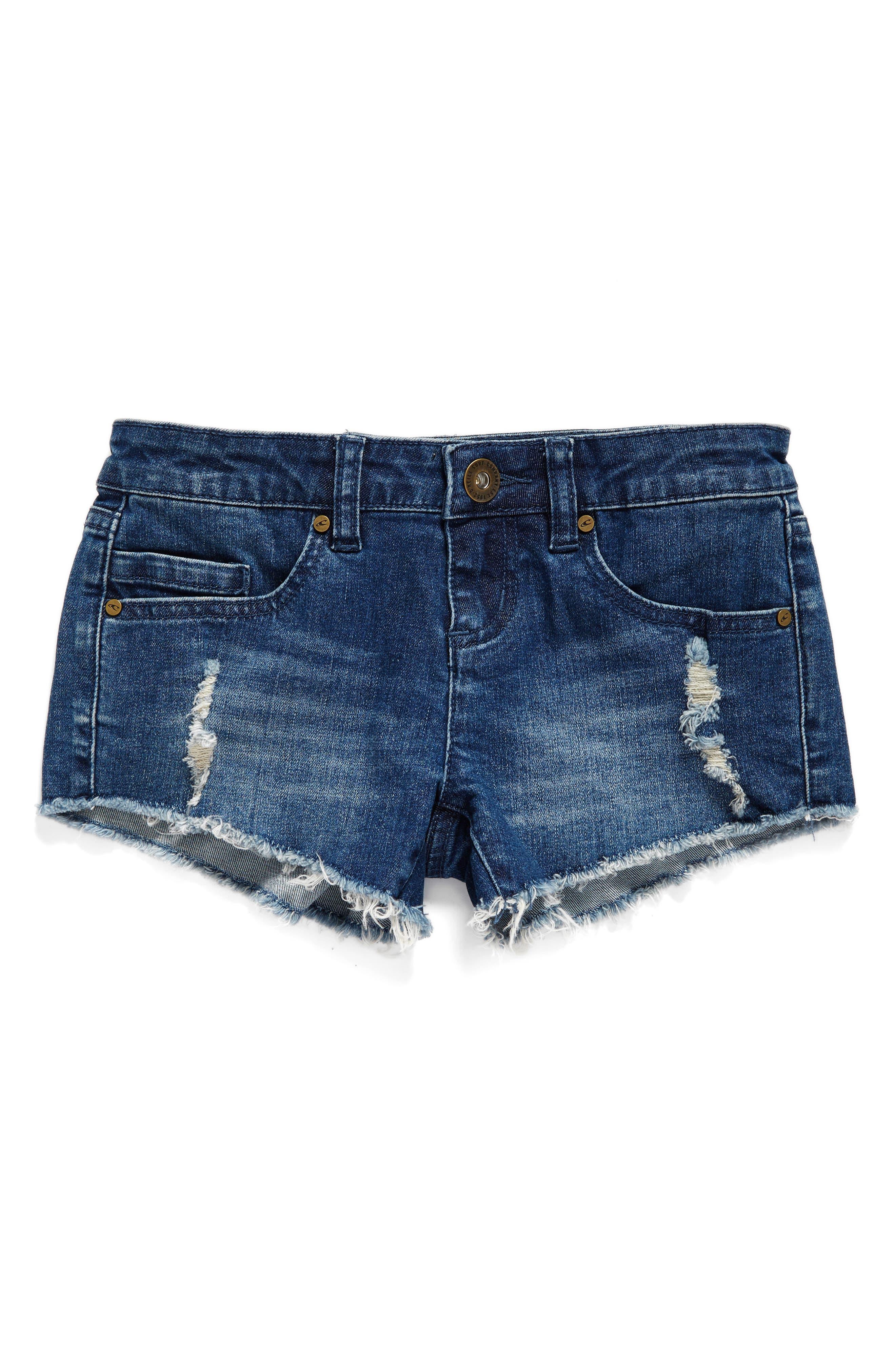 Camper Denim Shorts,                         Main,                         color, Blue Grass