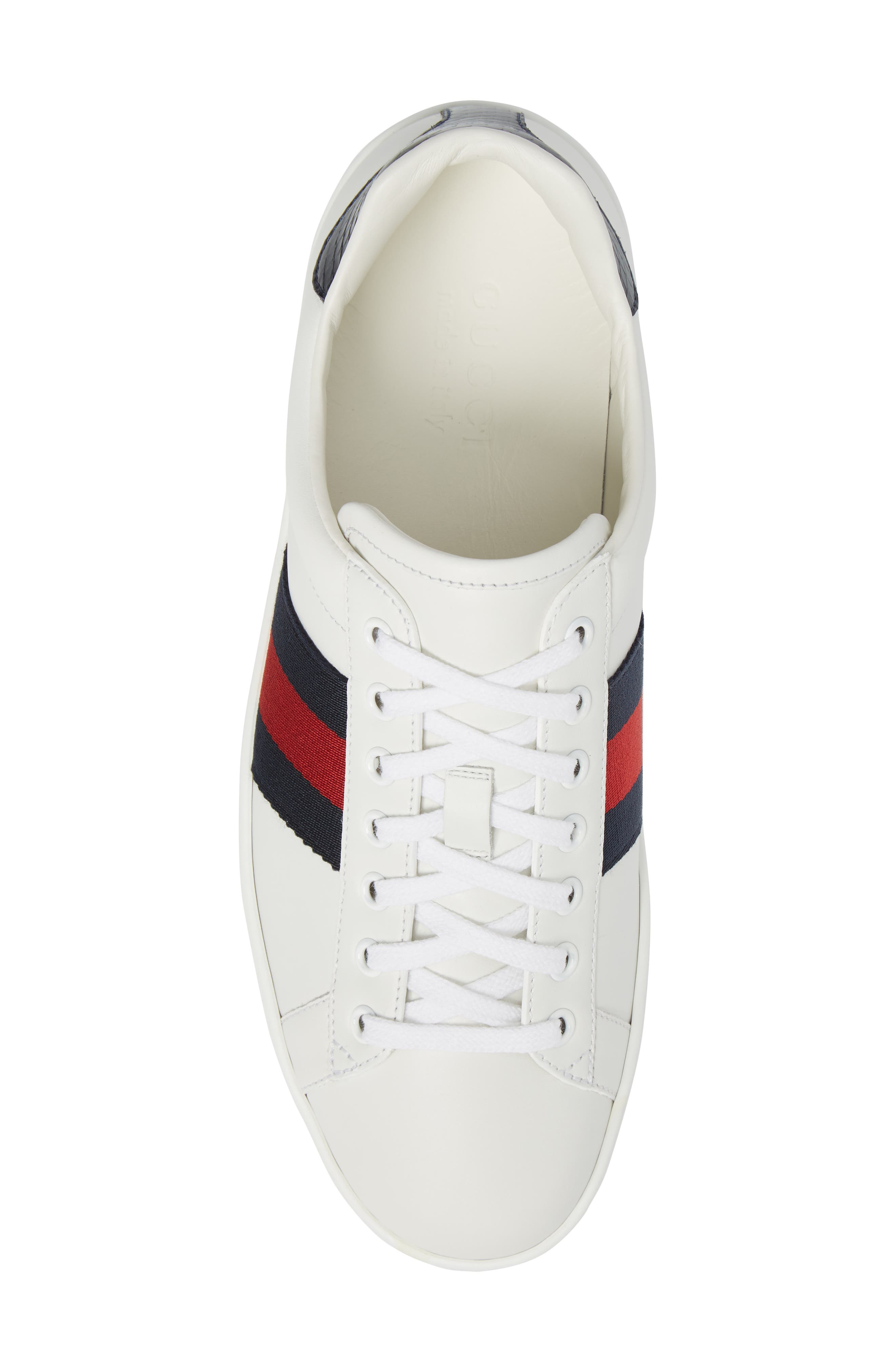 New Ace Clean Sneaker,                             Alternate thumbnail 5, color,                             Bianco