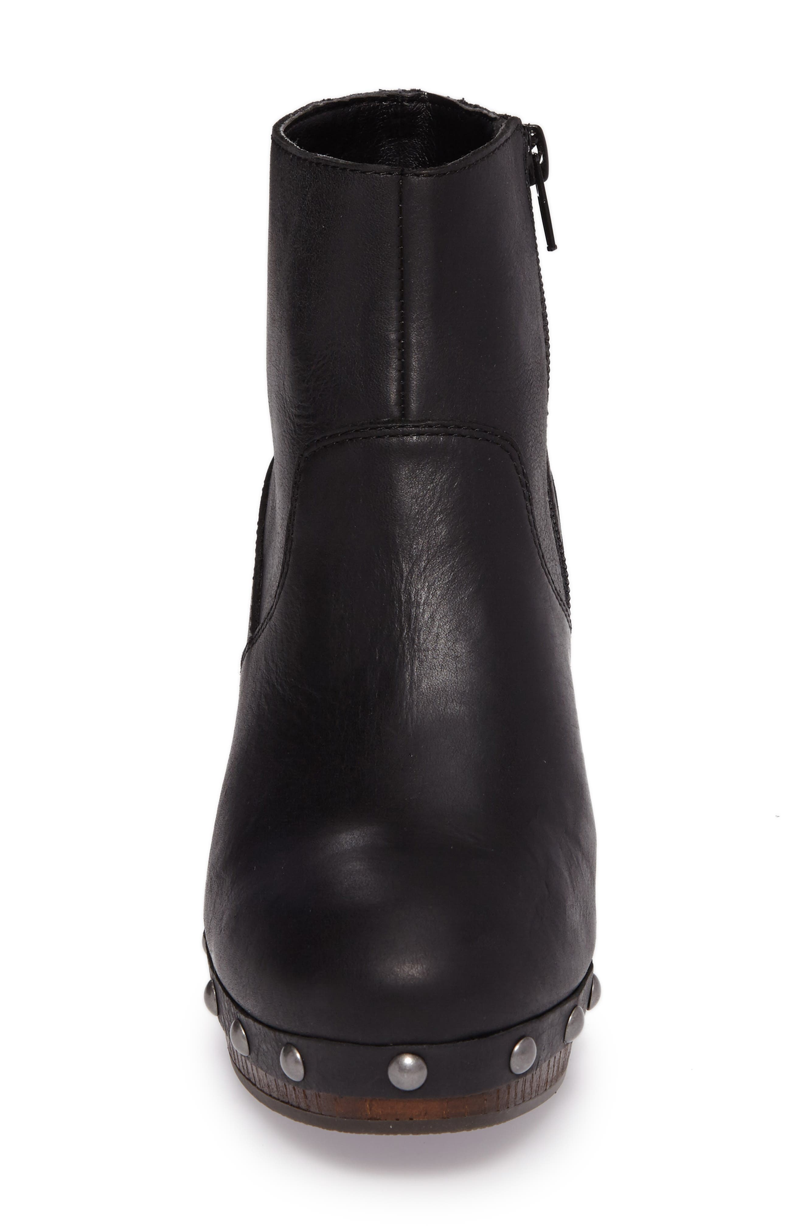 Yasamin Bootie,                             Alternate thumbnail 4, color,                             Black Leather