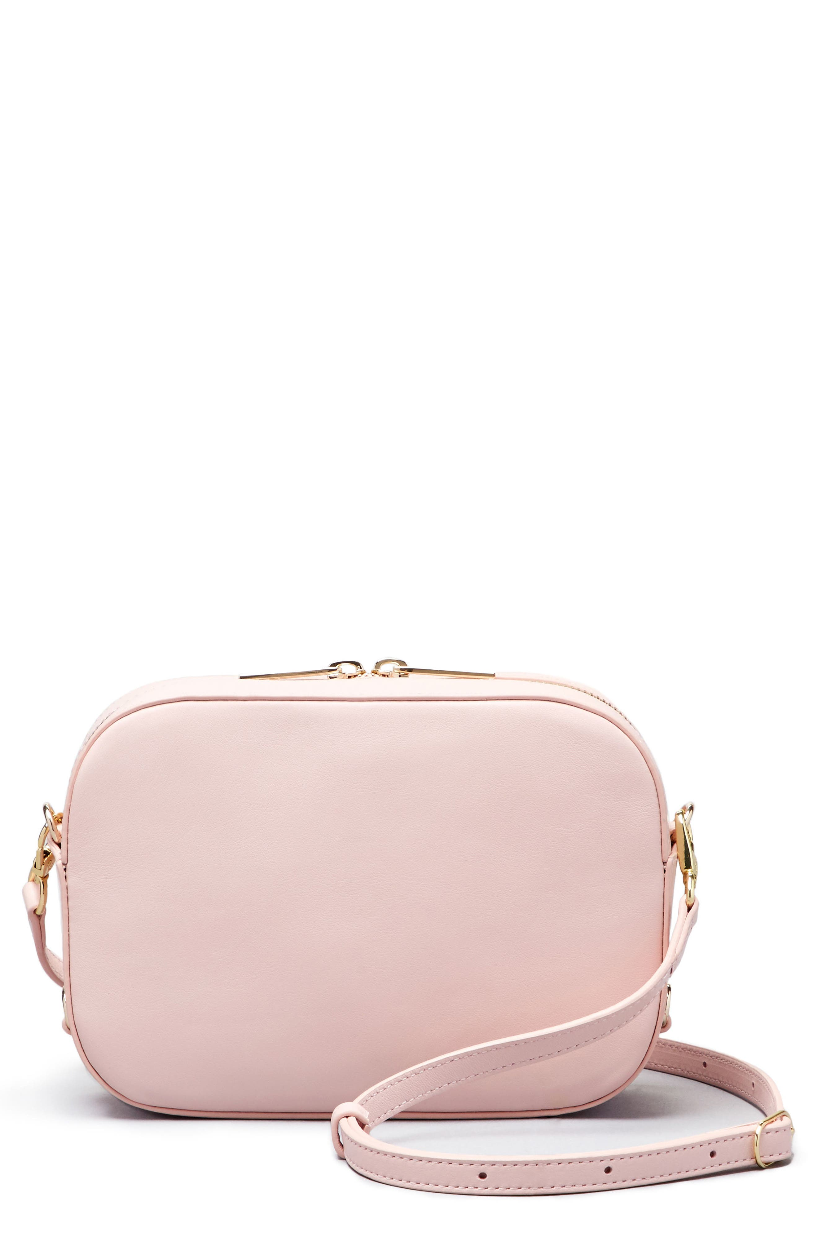 Bigger Leather Camera Bag,                         Main,                         color, Cotton Candy