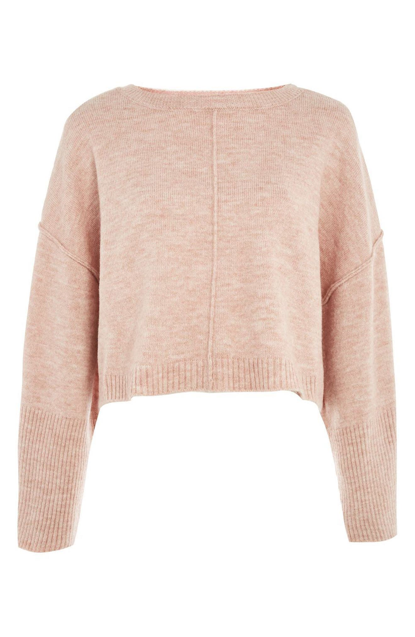 Alternate Image 4  - Topshop Wide Sleeve Crop Sweater