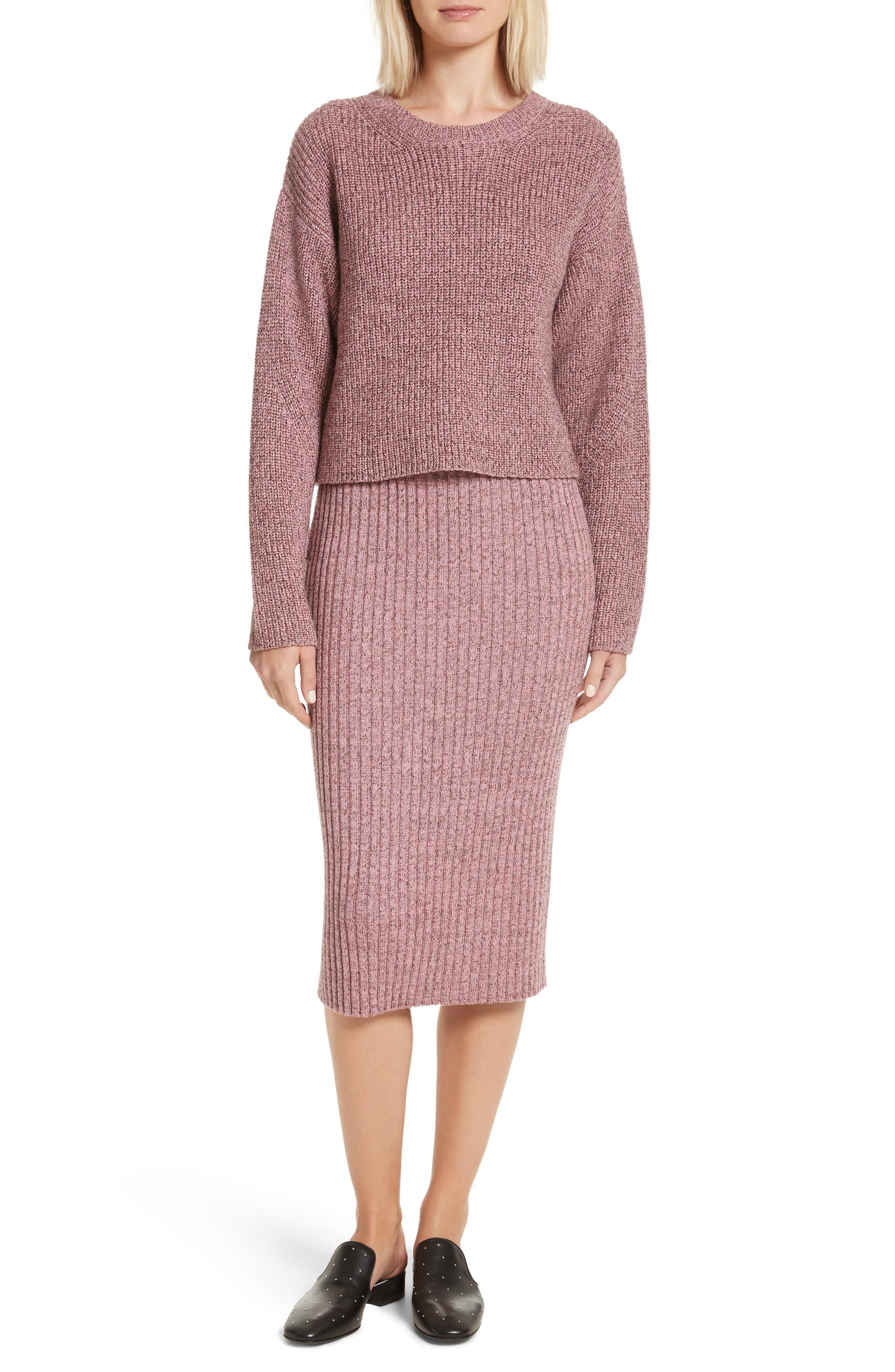 Alternate Image 2  - rag & bone Leyton Metallic Knit Merino Wool Blend Sweater