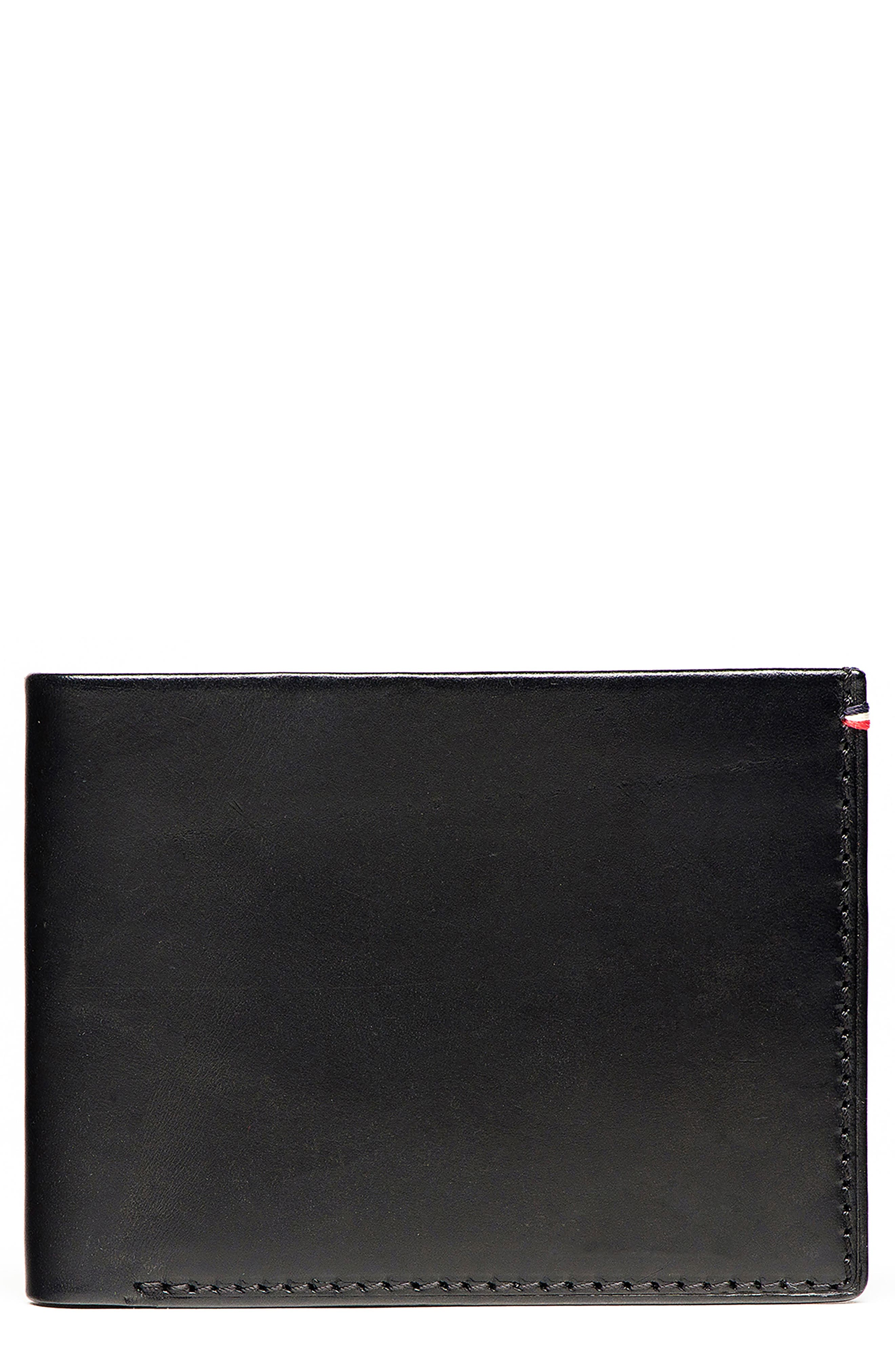 Core Leather Wallet,                         Main,                         color, Black