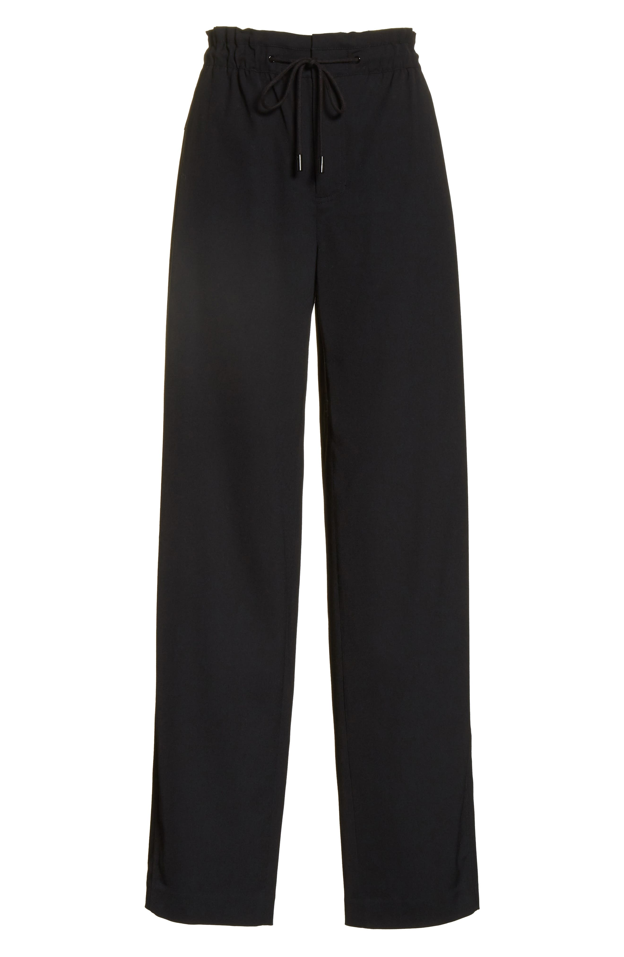 Drawstring Wide Leg Pants,                             Alternate thumbnail 6, color,                             Black