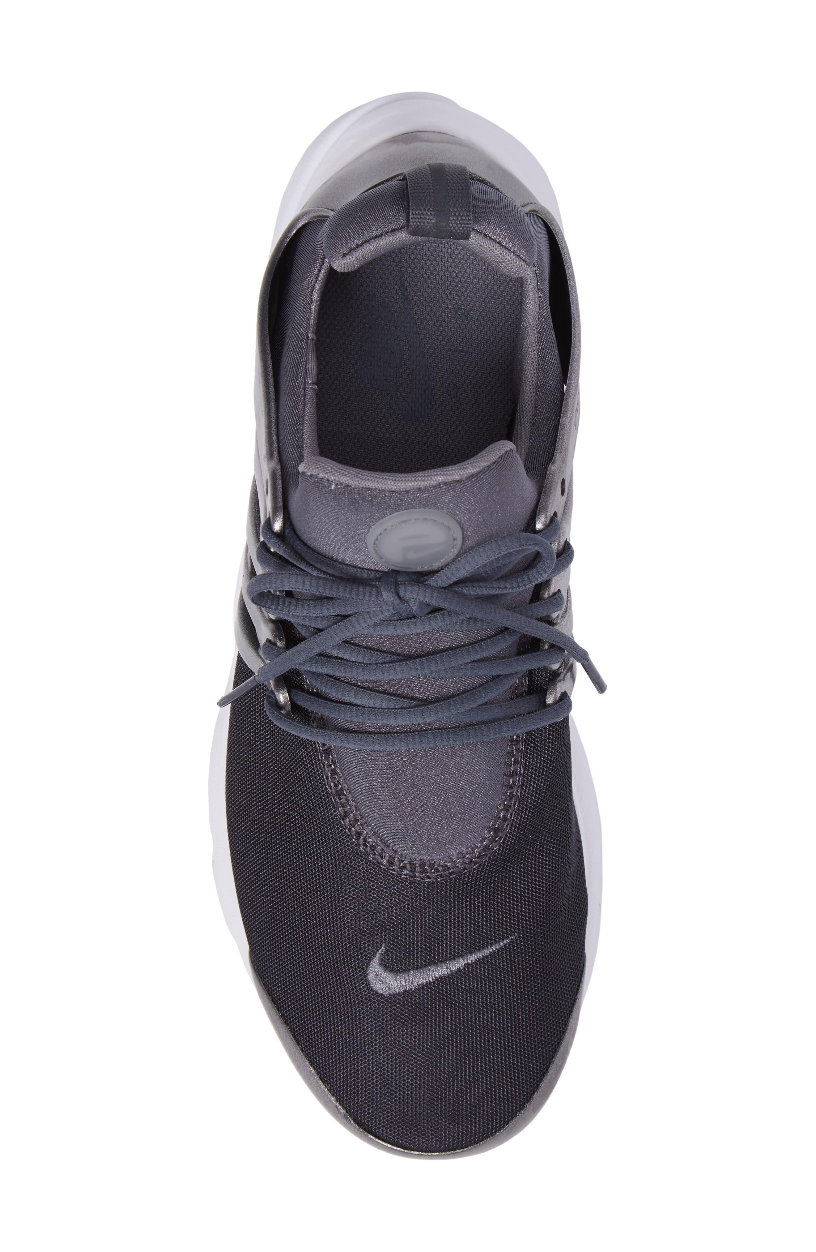 Air Presto Premium Sneaker,                             Alternate thumbnail 5, color,                             Metallic Hematite/ Cool Grey