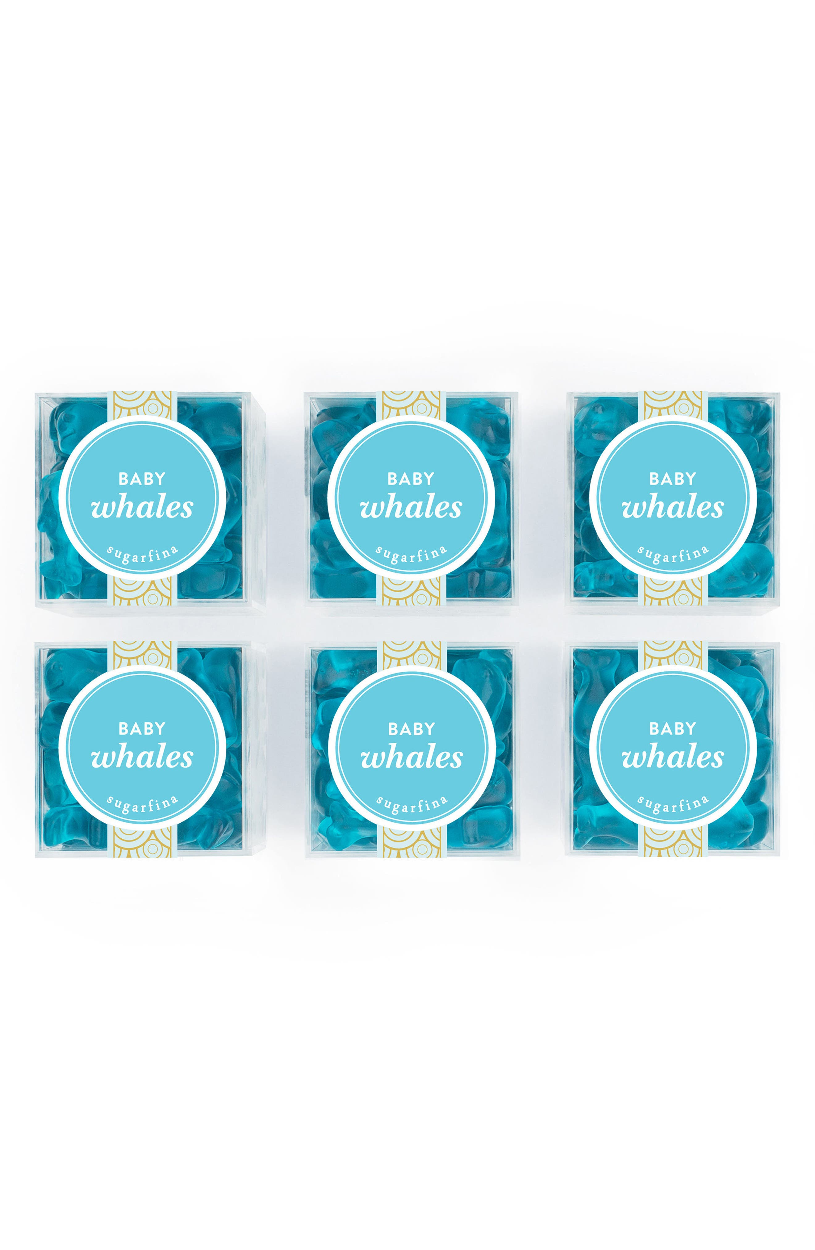 sugarfina Set of 6 Baby Whales Candy Cubes