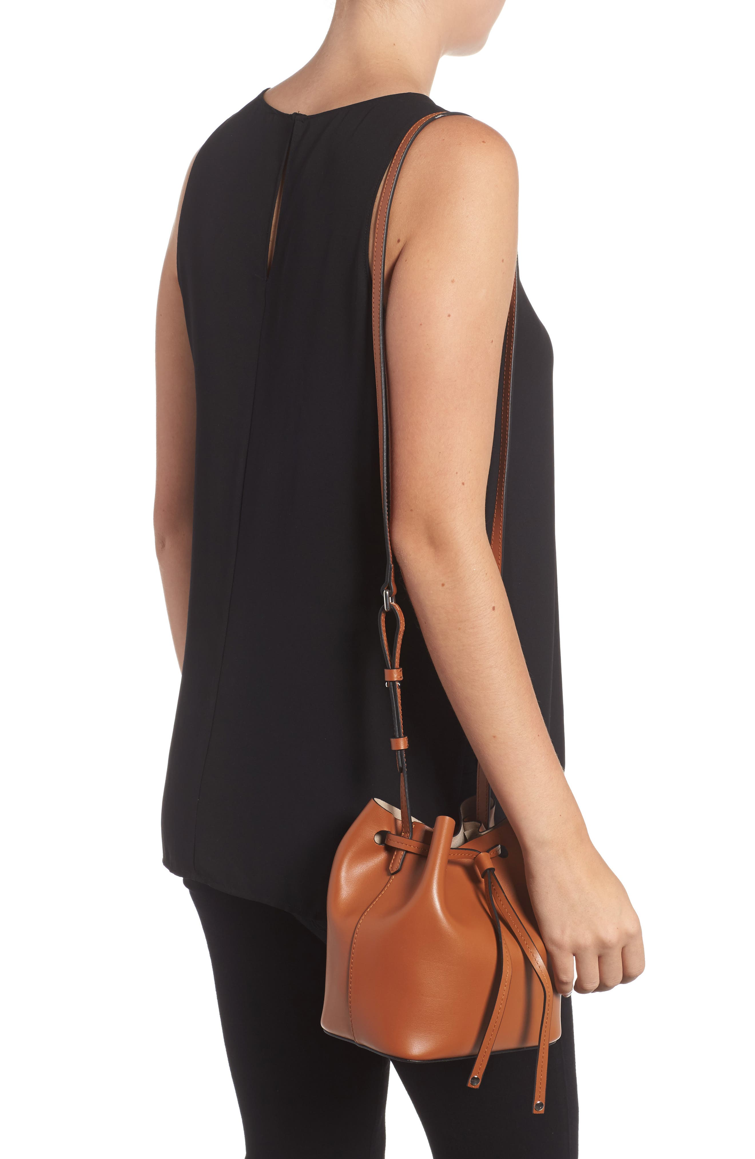 Alternate Image 2  - Lodis Small Silicon Valley Blake RFID Leather Bucket Bag