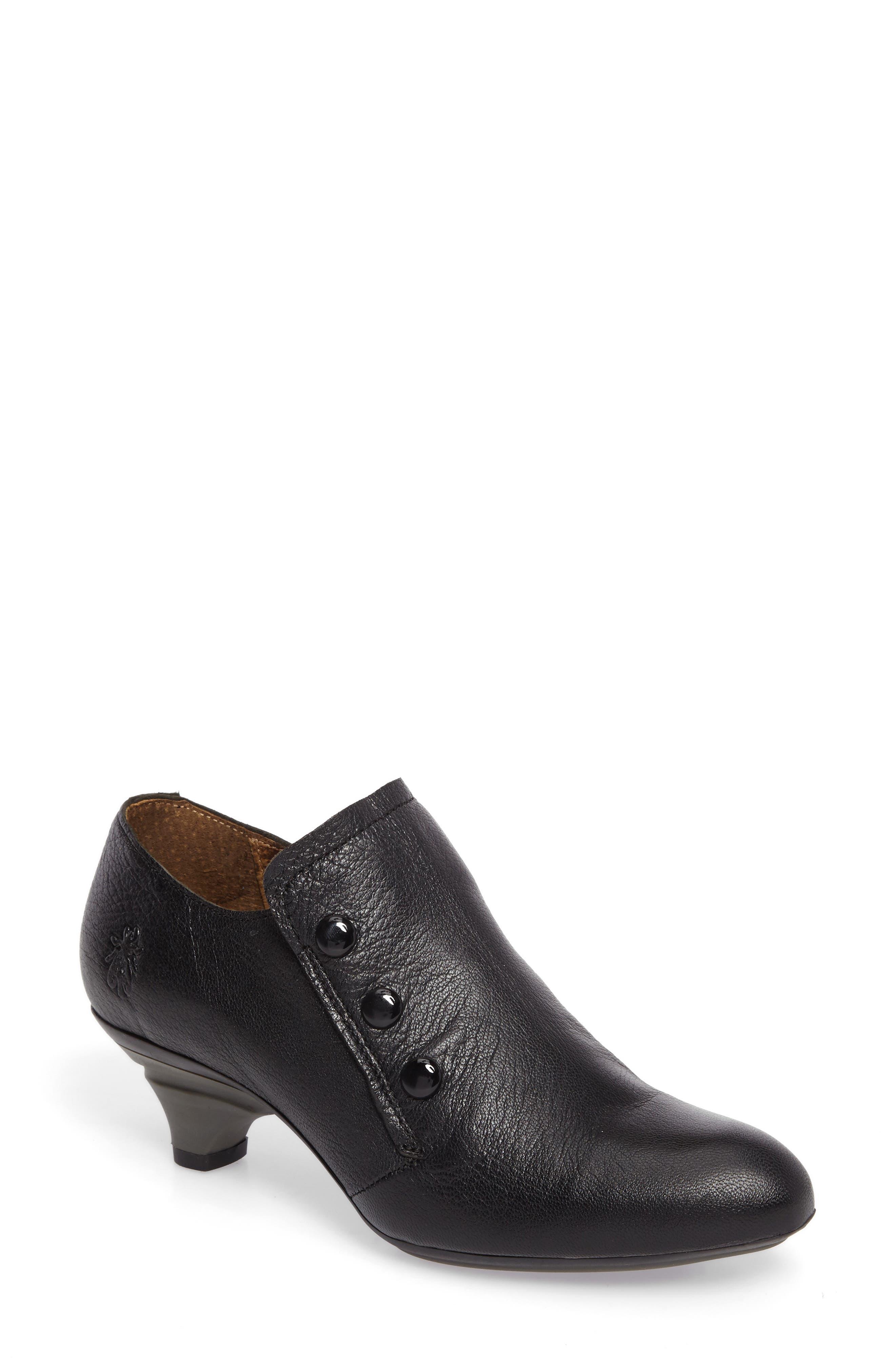 Baff Kitten Heel Pump,                         Main,                         color, Black Leather