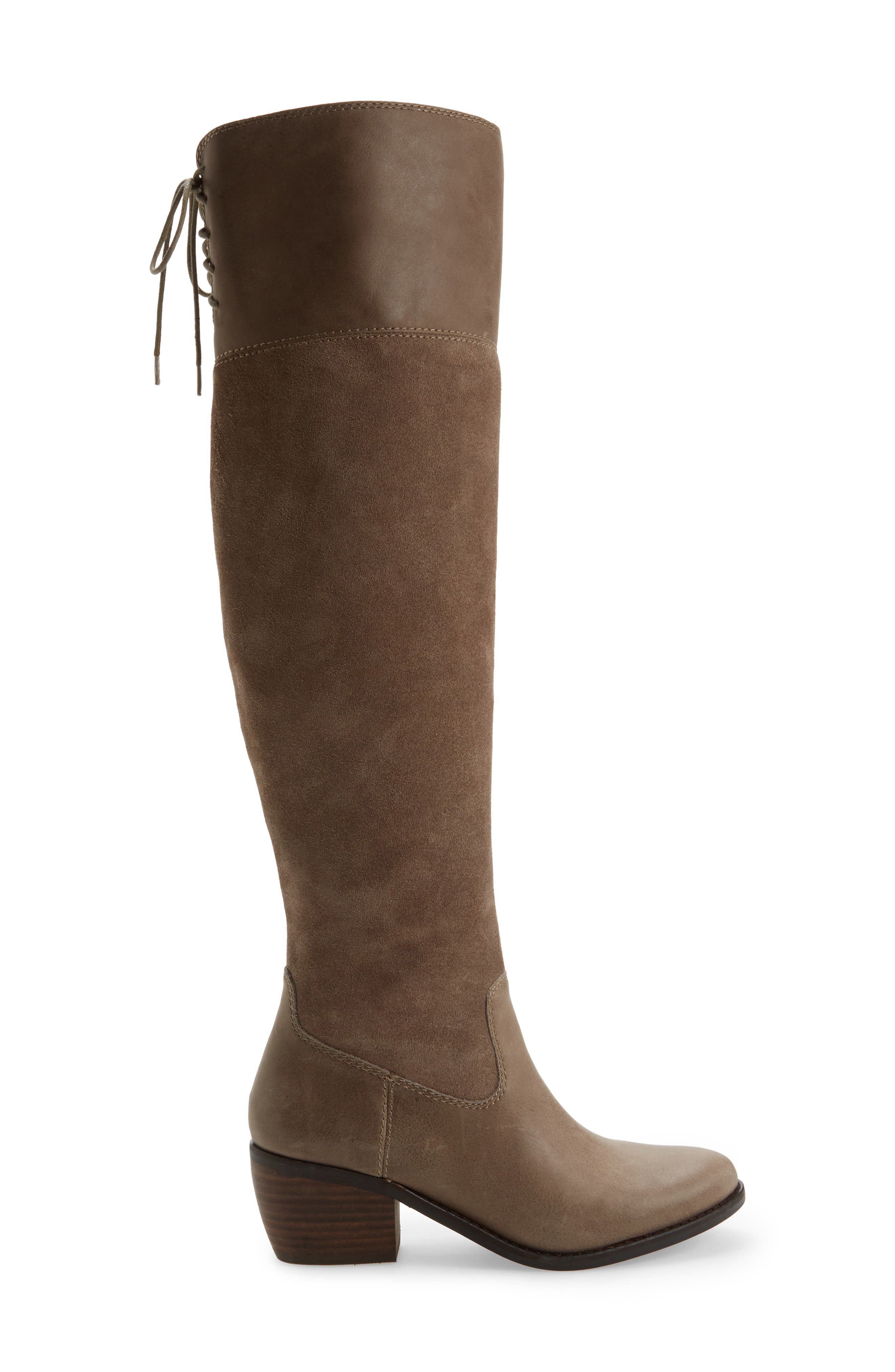 Komah Over the Knee Boot,                             Alternate thumbnail 3, color,                             Brindle Leather