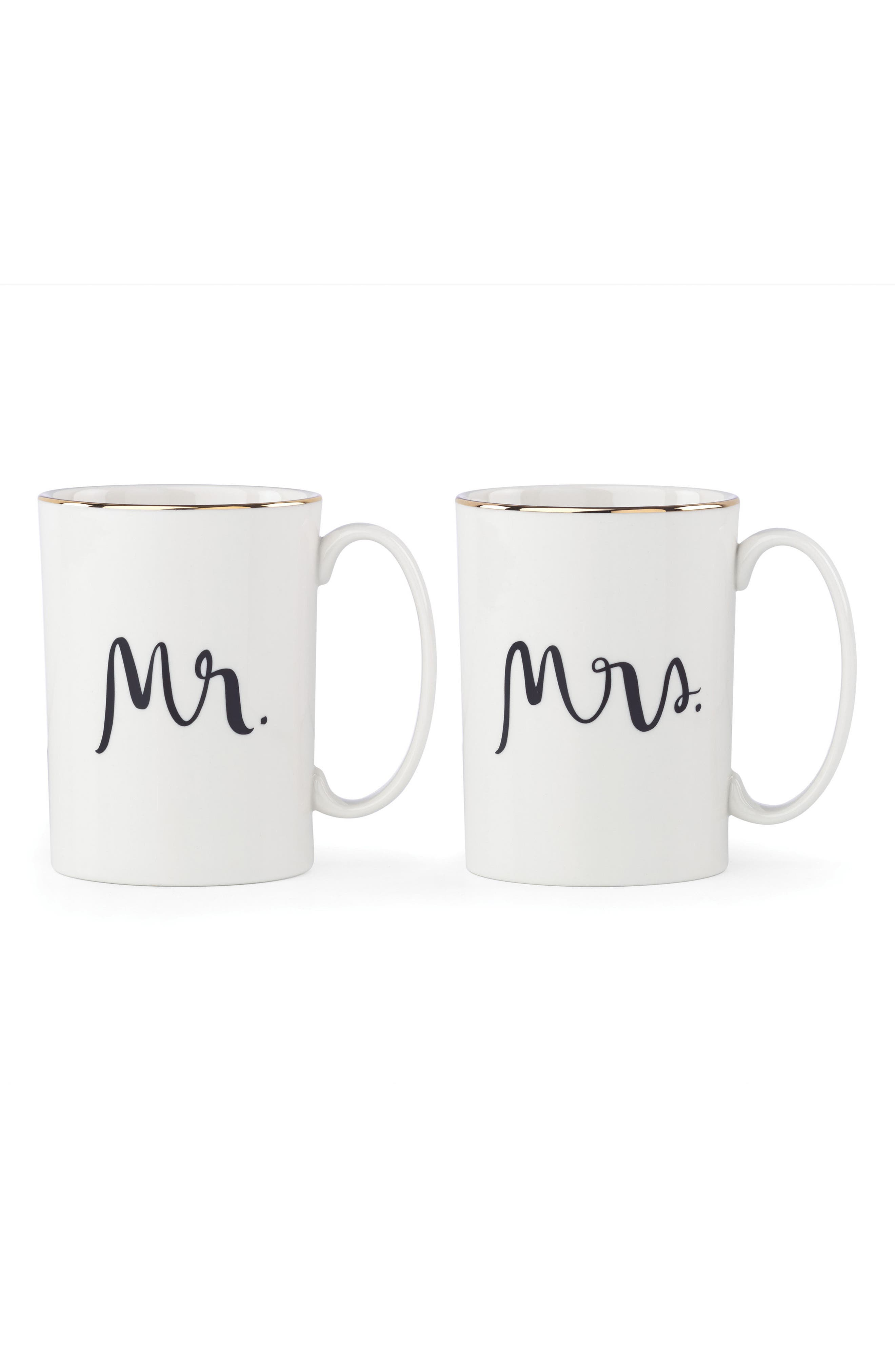 kate spade new york mr/mrs set of 2 mugs