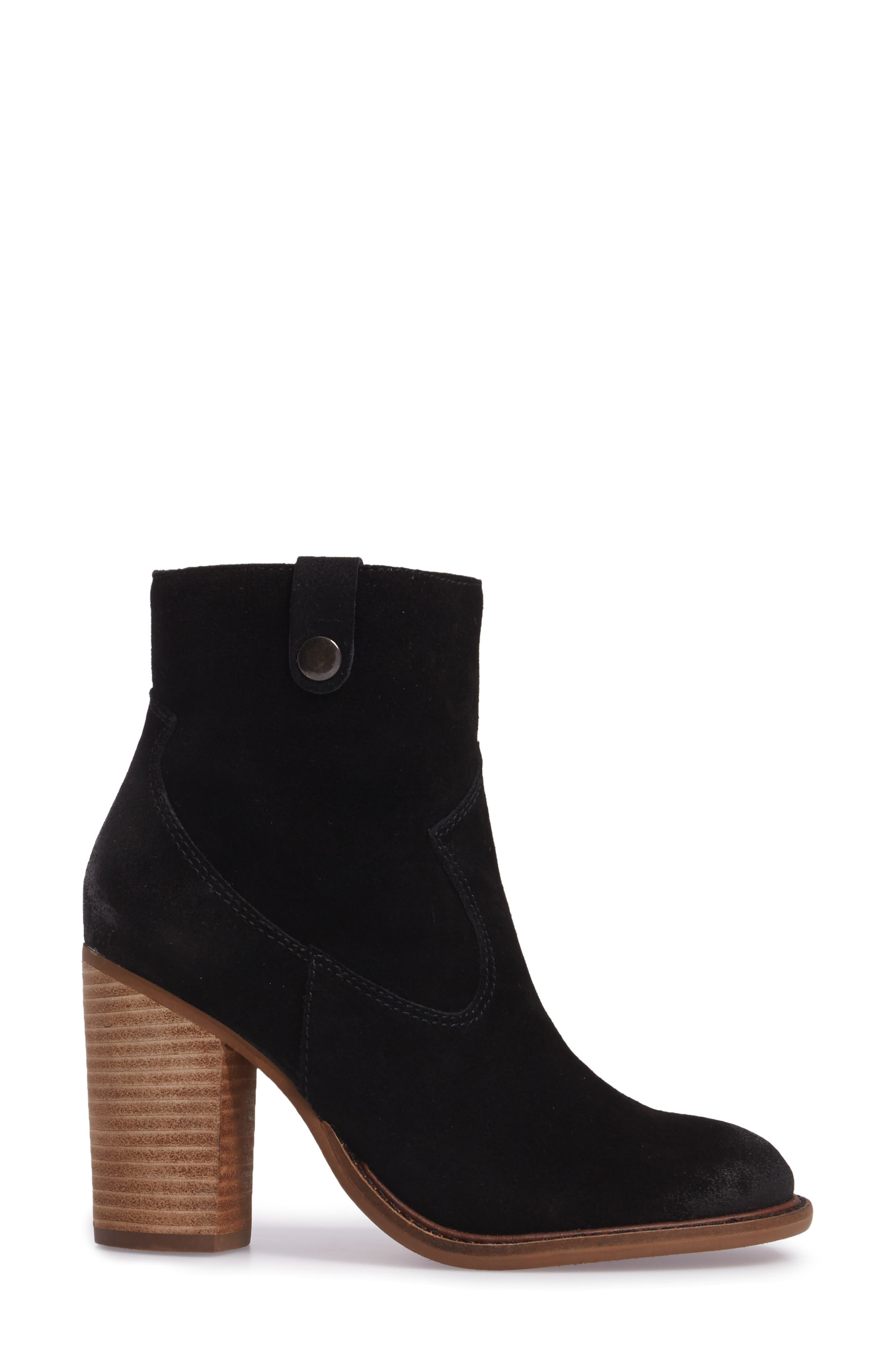 Legion Bootie with Faux Shearling Lining,                             Alternate thumbnail 3, color,                             Black