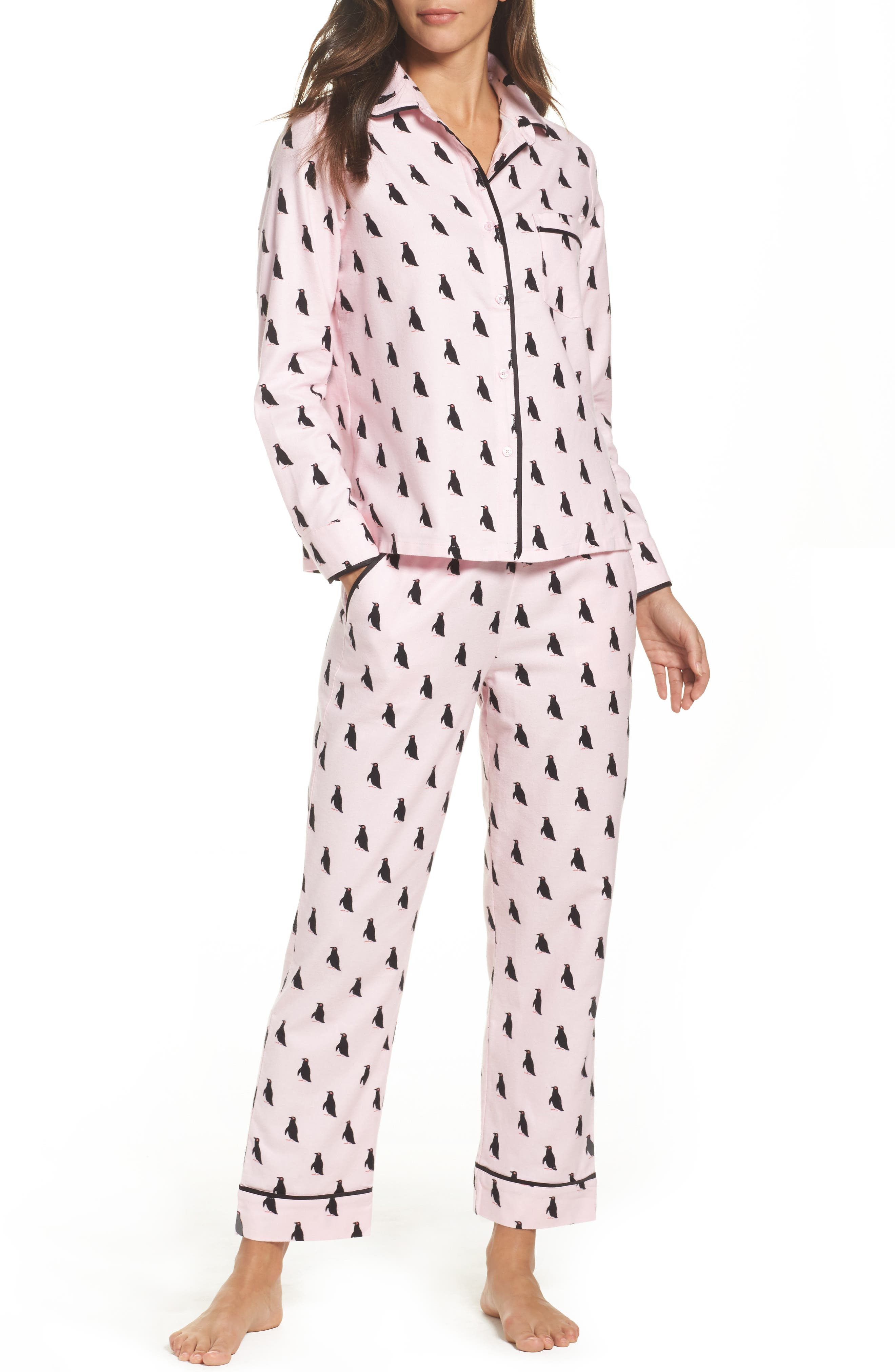 Alternate Image 1 Selected - kate spade new york flannel pajamas