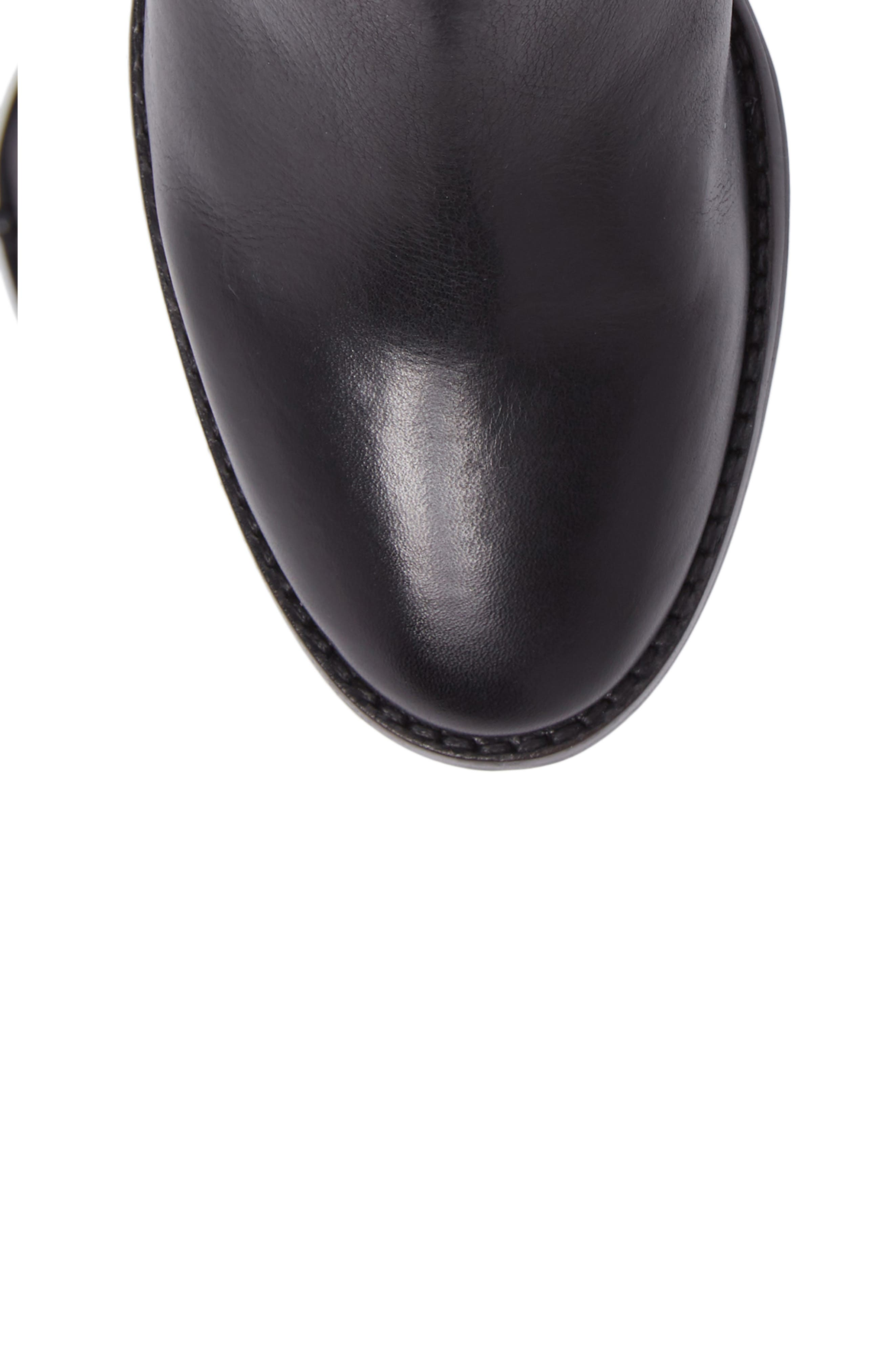 Final Bow Boot,                             Alternate thumbnail 5, color,                             Black Leather