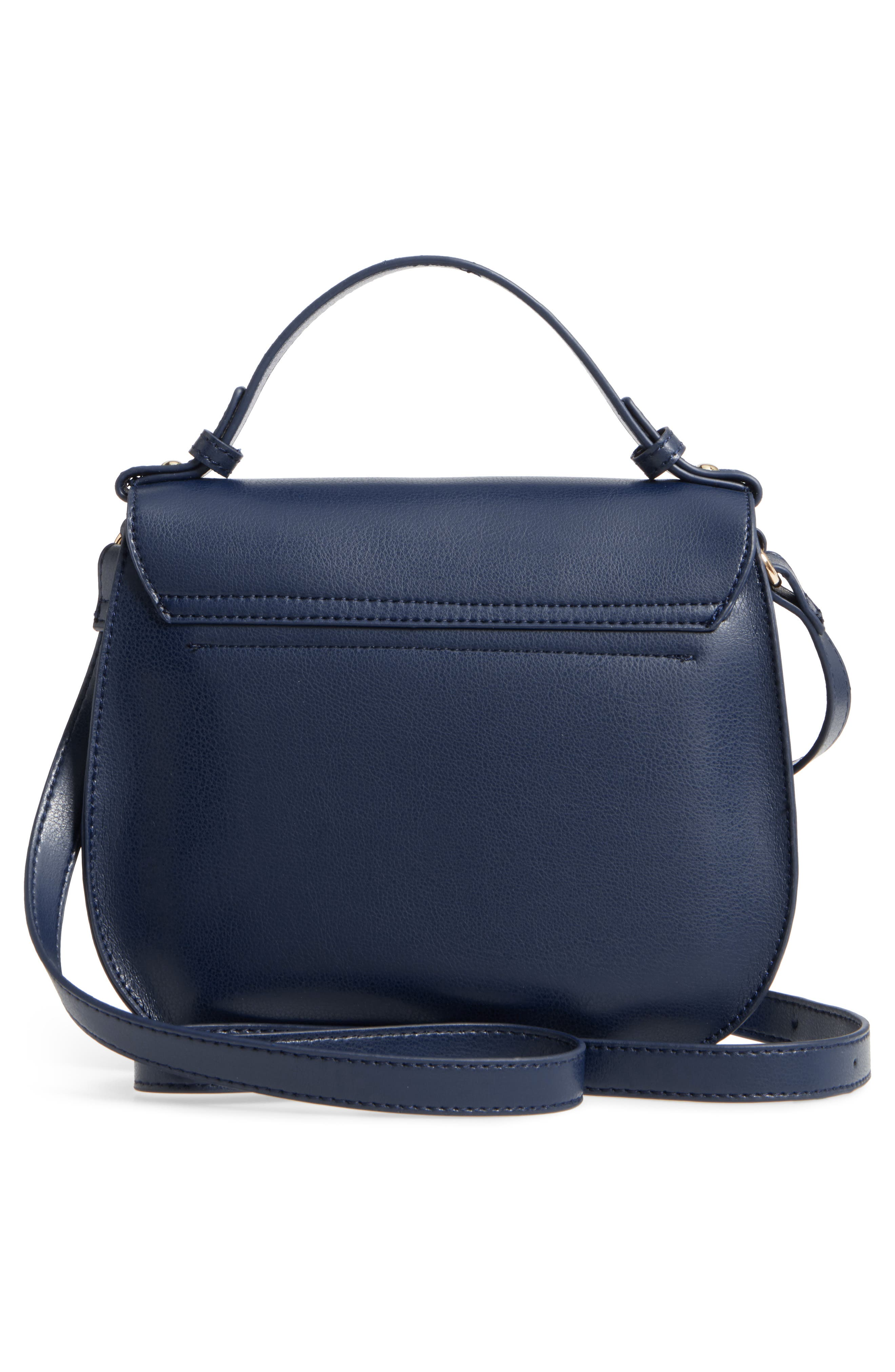 Faux Leather Crossbody Bag,                             Alternate thumbnail 2, color,                             Midnight