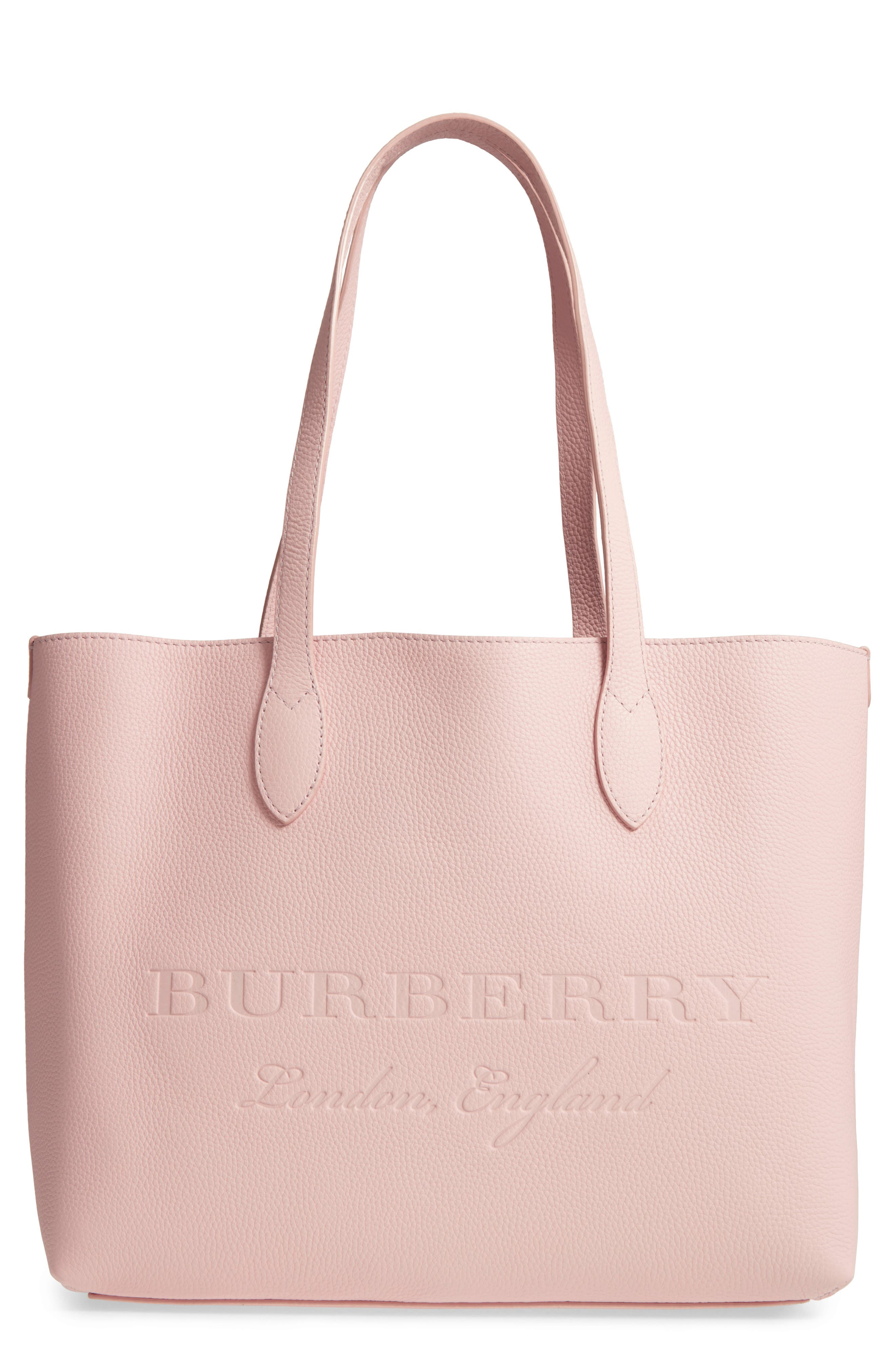 Remington Leather Tote,                             Main thumbnail 1, color,                             Pale Ash Rose
