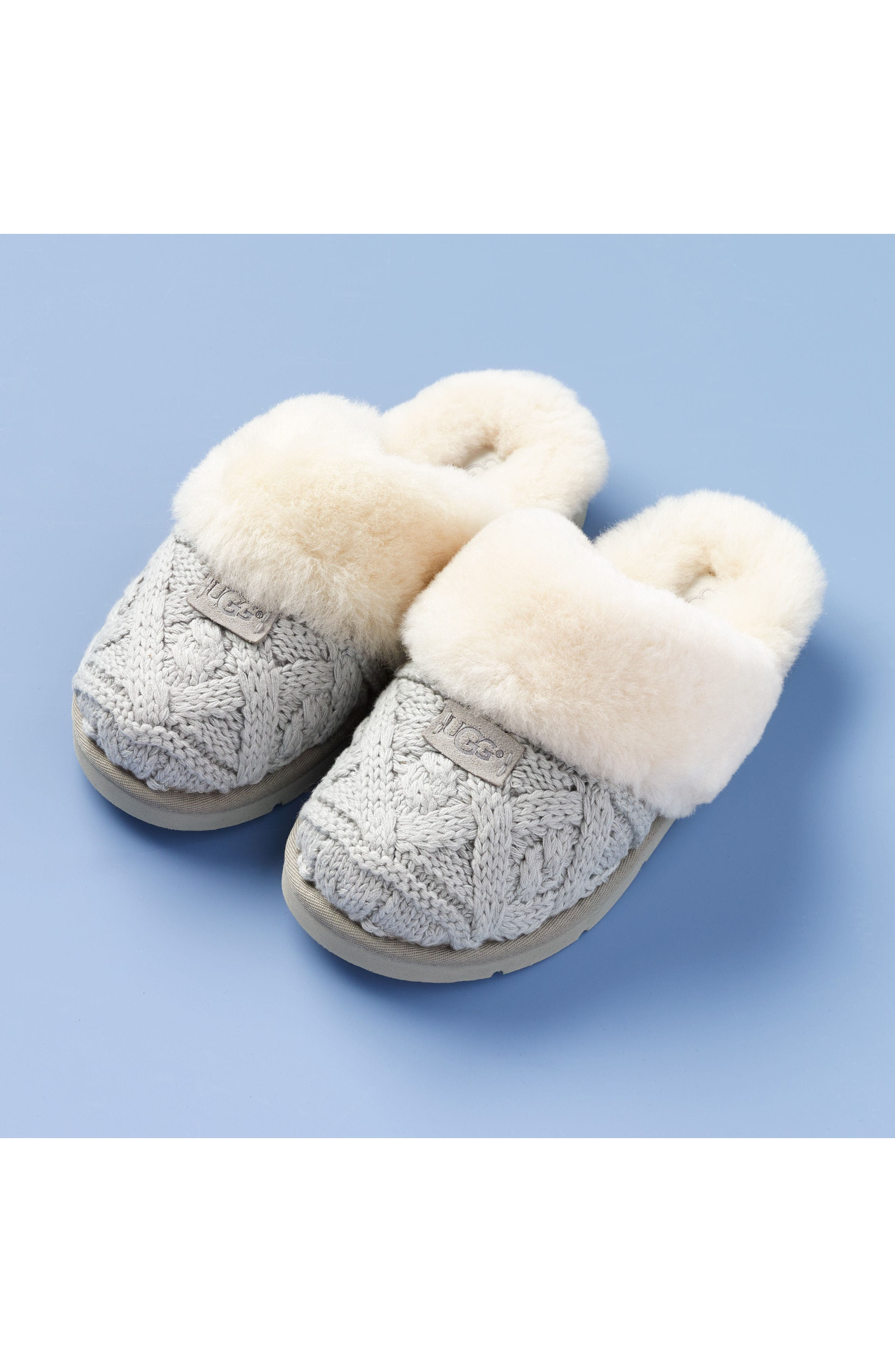 Alternate Image 7  - UGG® Cozy Cable Slipper (Women)