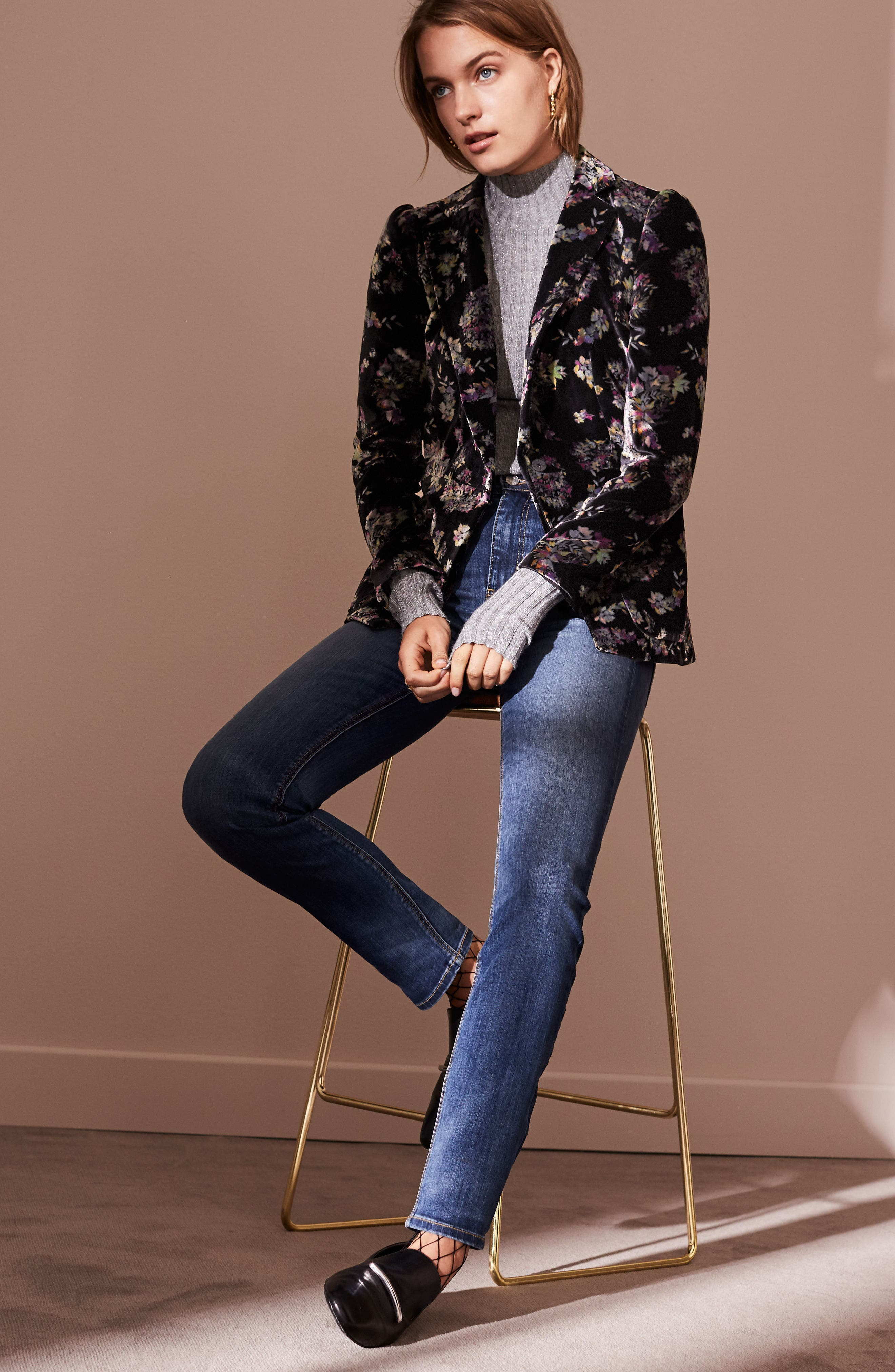 Alternate Image 7  - Rebecca Taylor Jewel Velvet Blazer