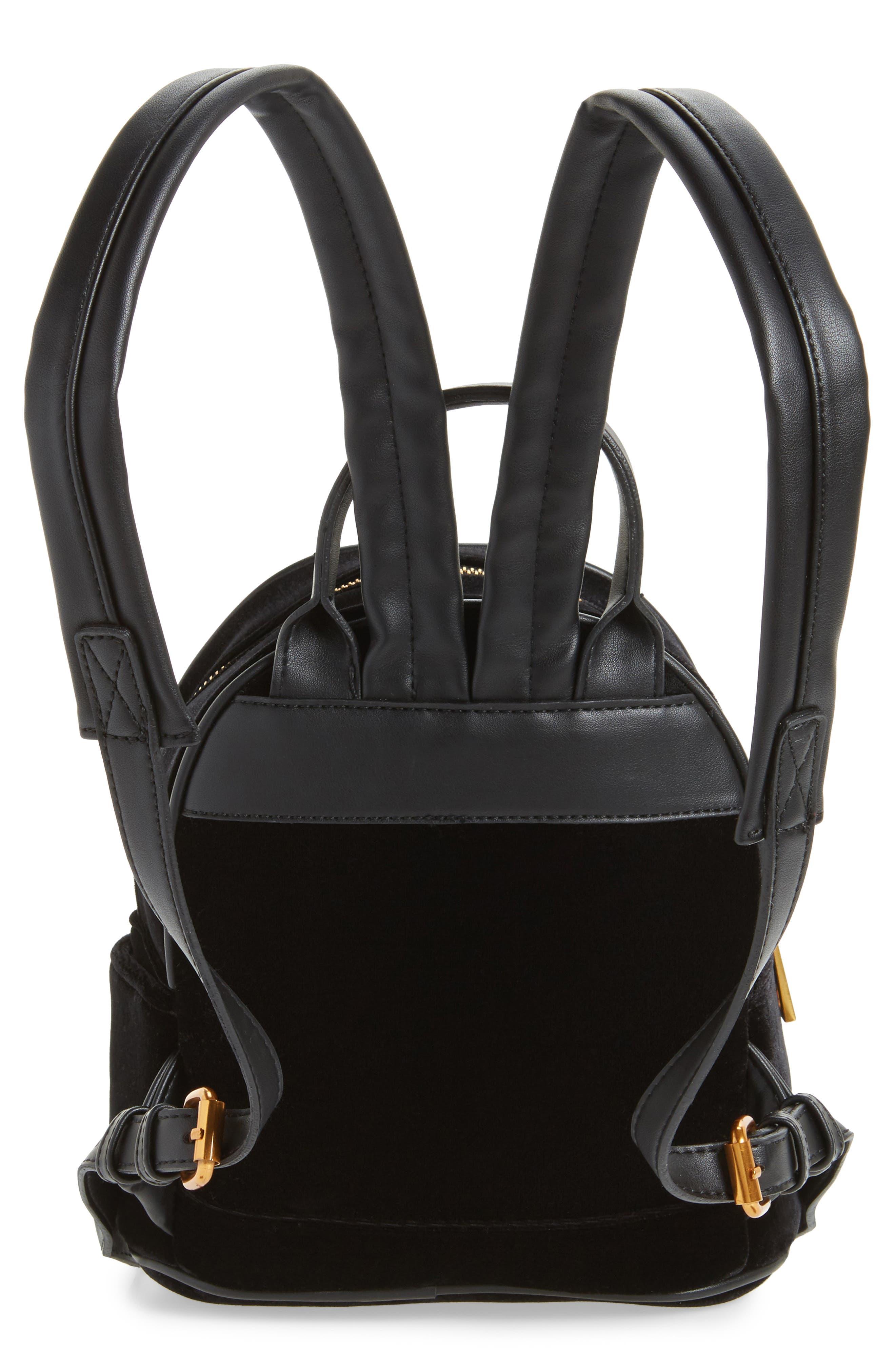Velvet Backpack,                             Alternate thumbnail 3, color,                             Black