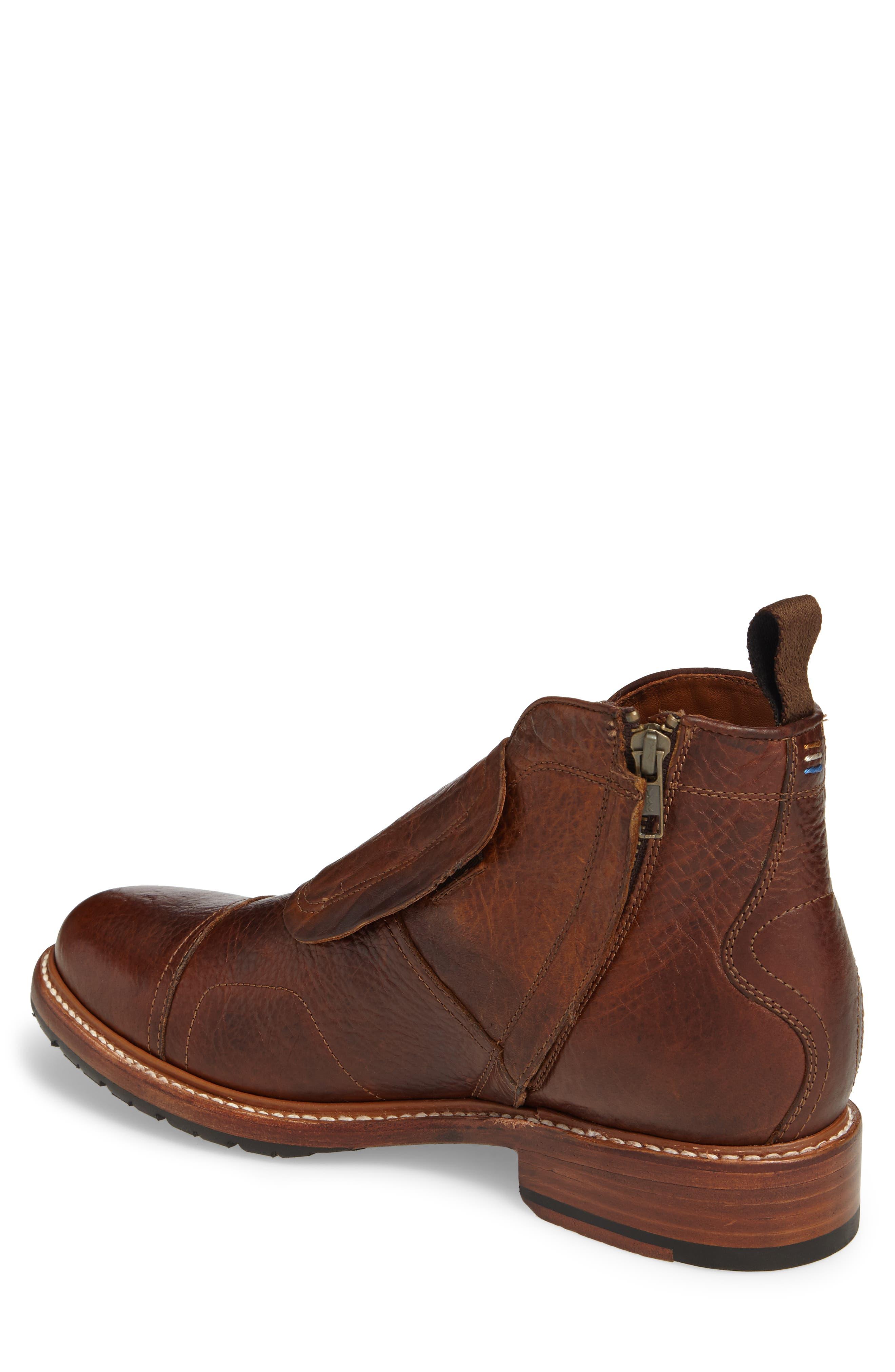 Montclair Zip Boot,                             Alternate thumbnail 2, color,                             Brown Leather