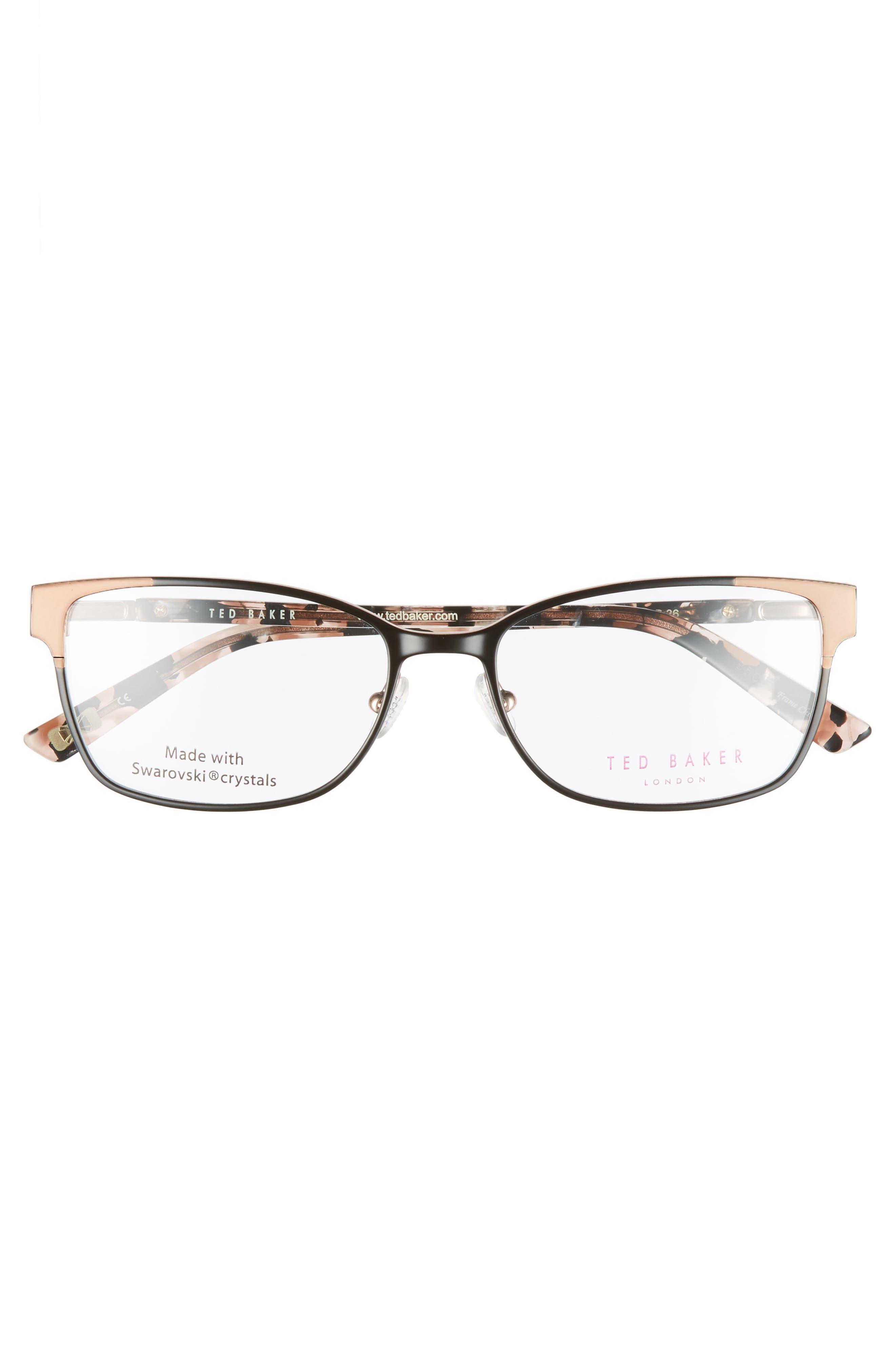 Alternate Image 3  - Ted Baker London 52mm Crystal Rectangular Optical Glasses