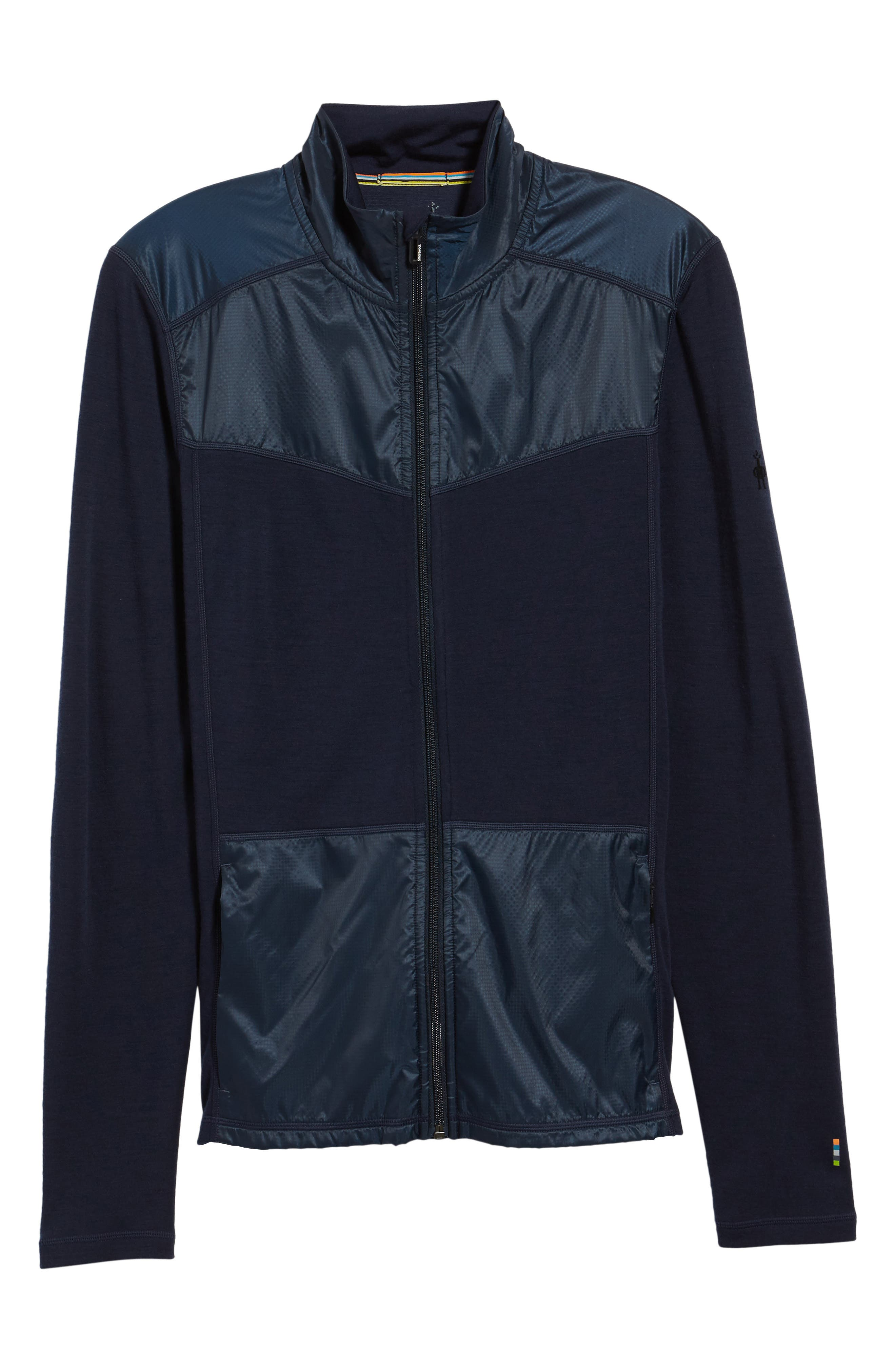 250 Sport Merino Wool Zip Jacket,                             Alternate thumbnail 6, color,                             Deep Navy