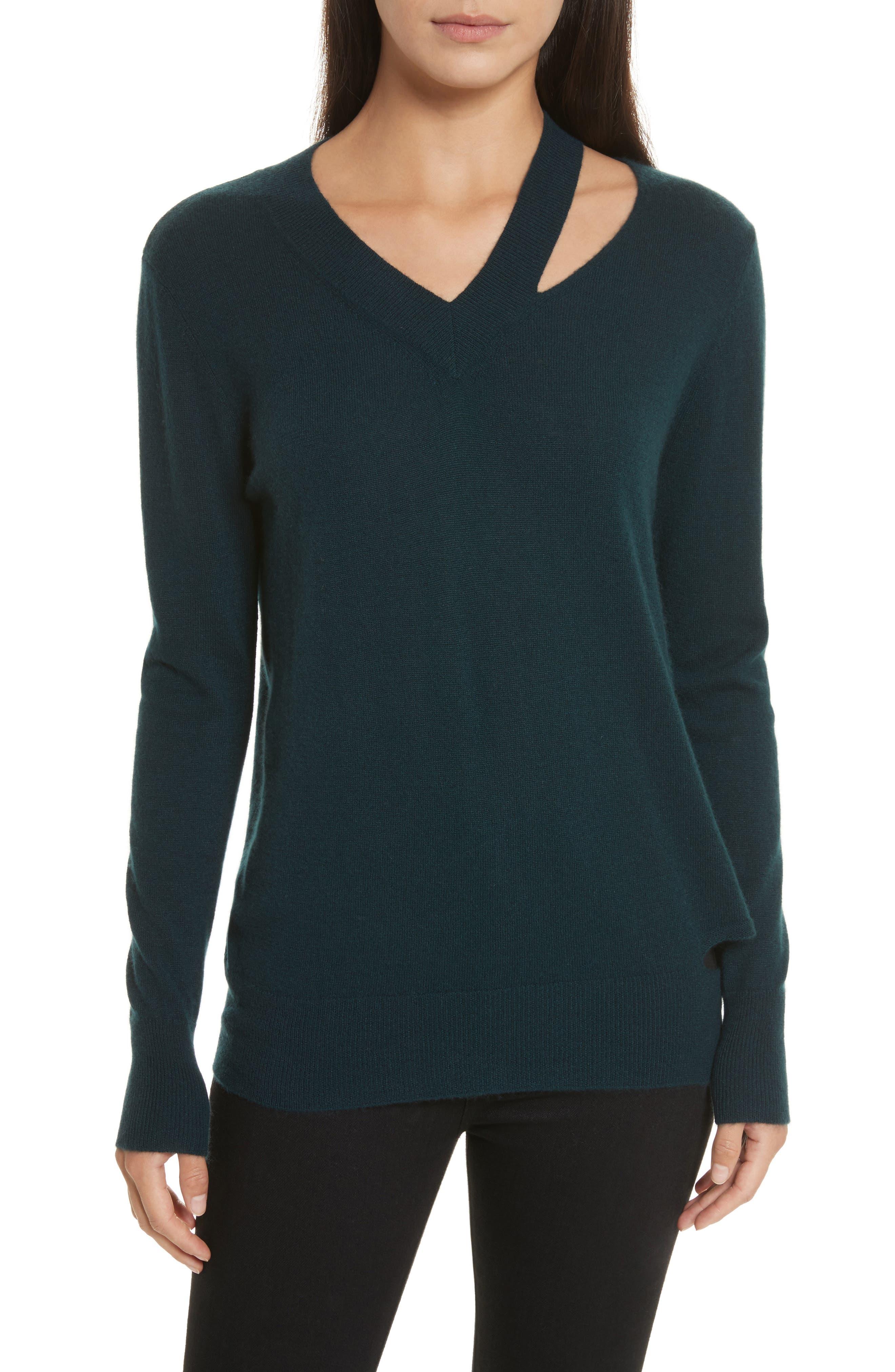 Main Image - autumn cashmere Cashmere Slash Boyfriend Sweater